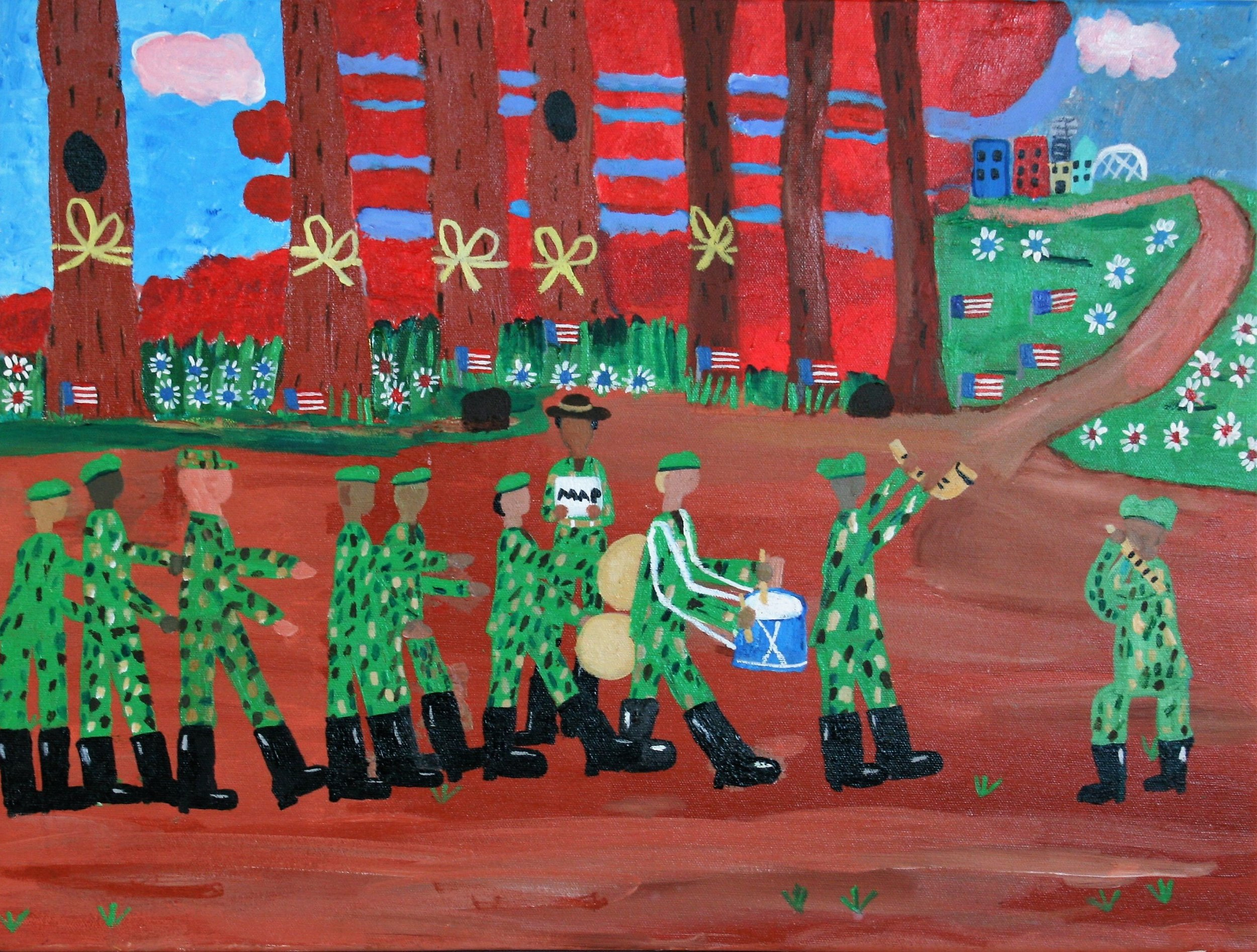 """Cornelious Brackens, Jr. """"Lost on the Way to the Parade"""", 18 x 24, $275"""