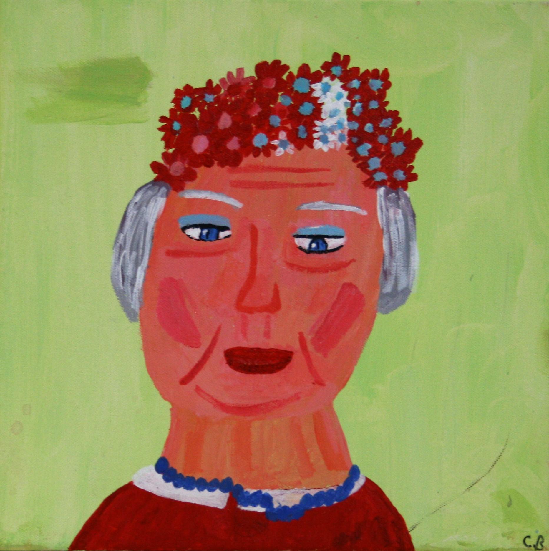 "Cornelious Brackens, Jr. ""The Beauty of Red"", 12 x 12, $75"