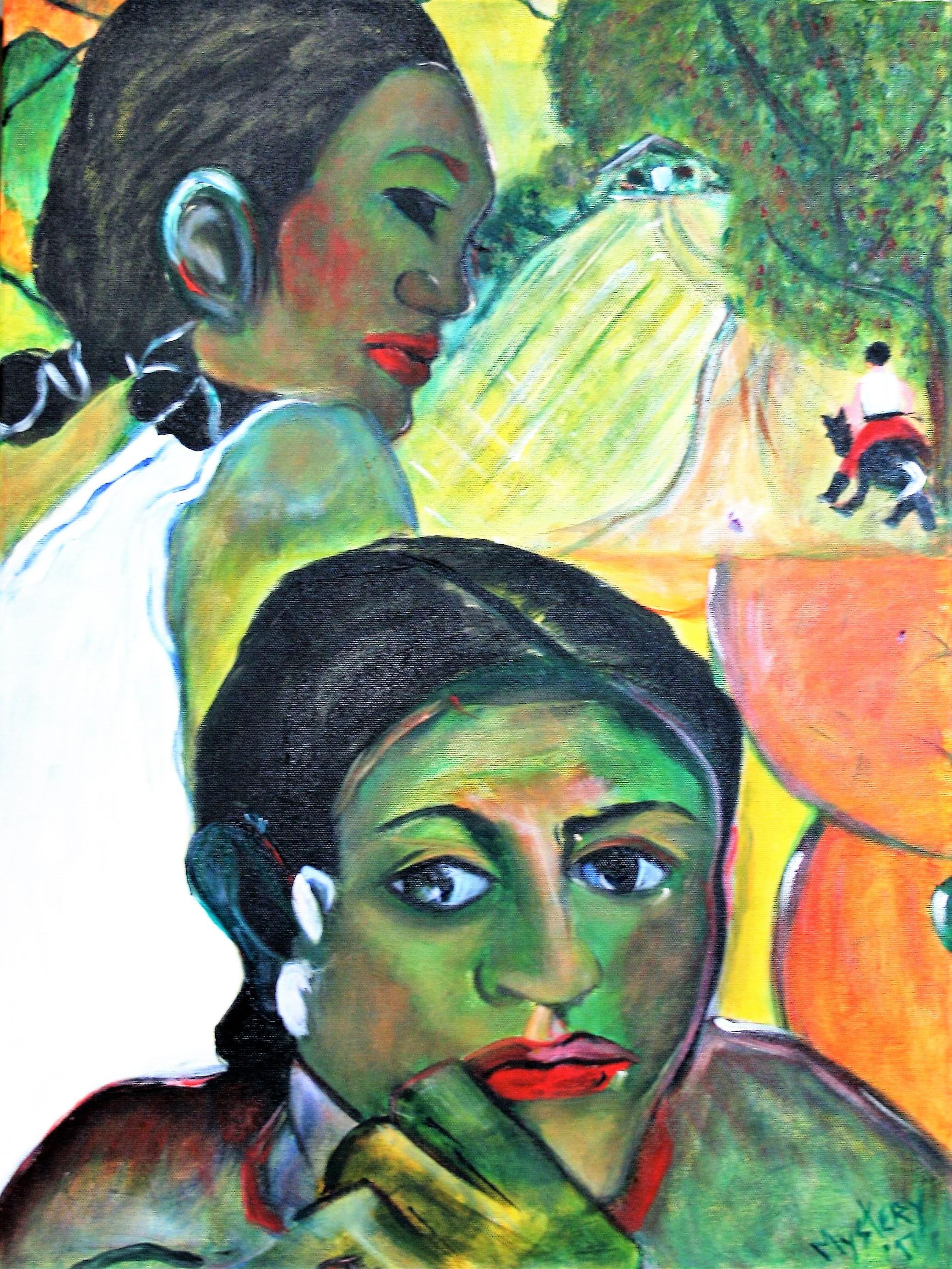 """Mystery, """"Memories of Gauguin"""", 18 x 24, $250"""