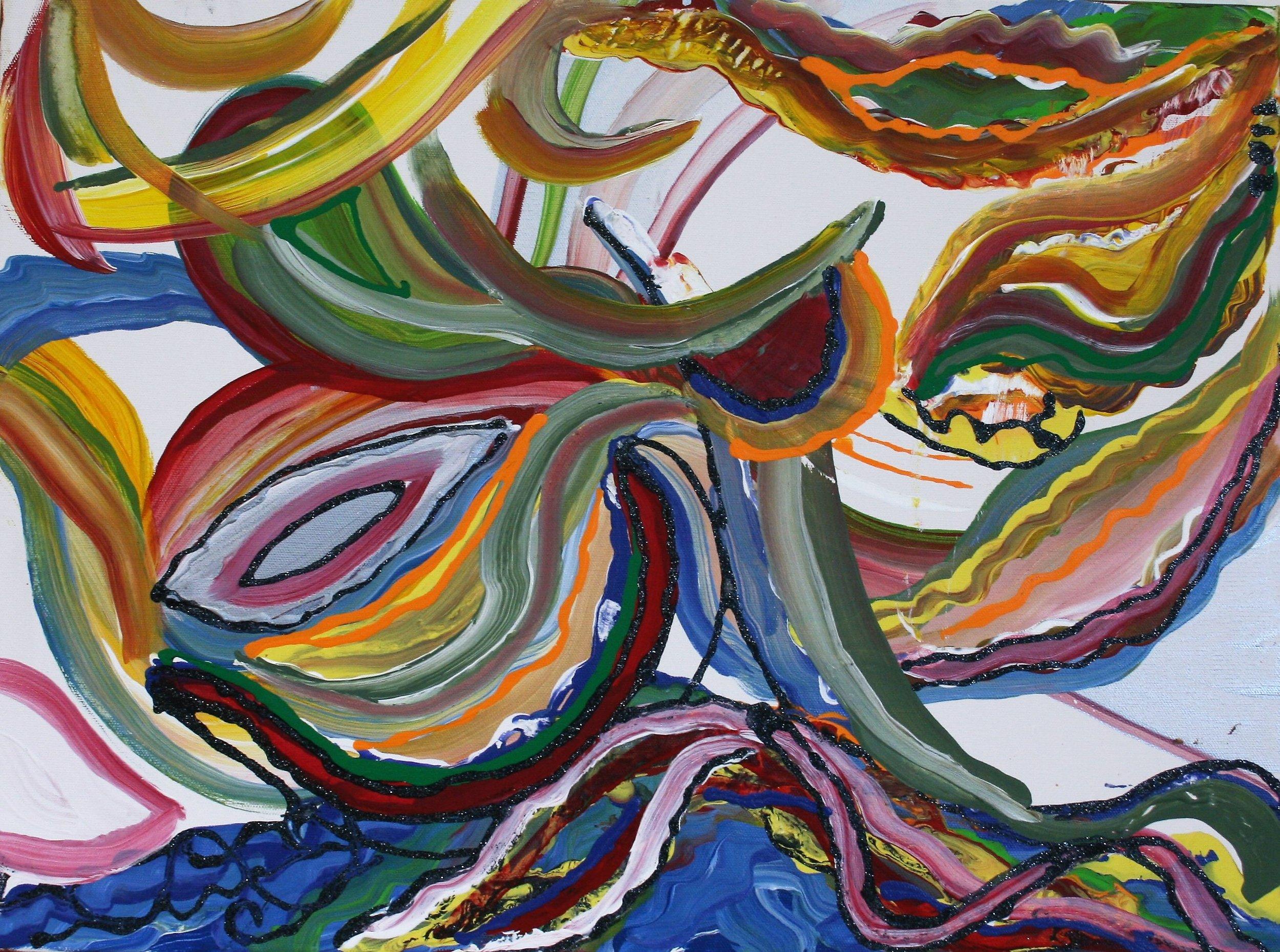 """Lee C. Albritton, """"Tidal Wave"""" 18 x 24, $100"""