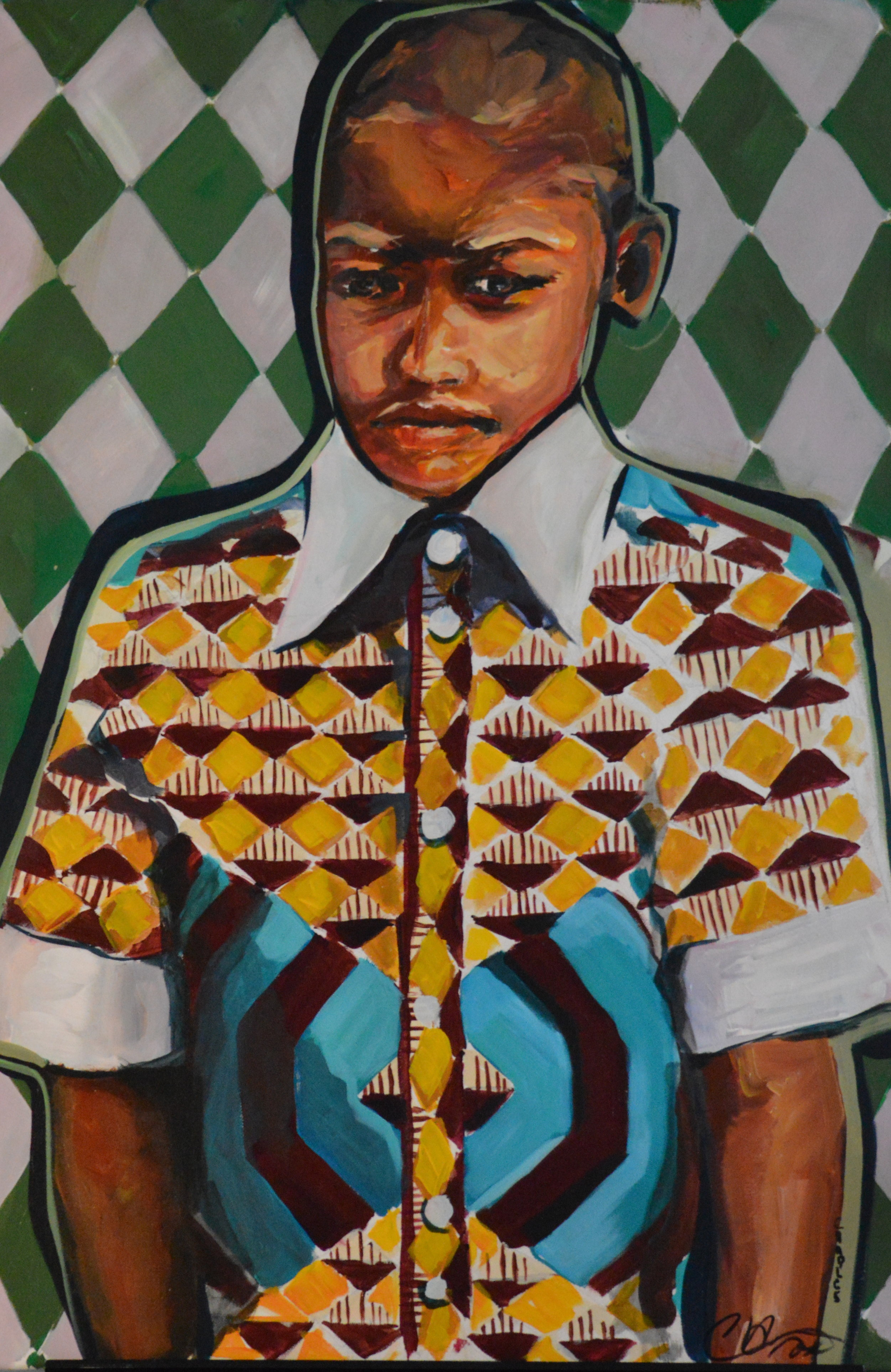 "#4 Charles William ""Facial"" ""Boy in Harlequin"" 24 x 36, $800"