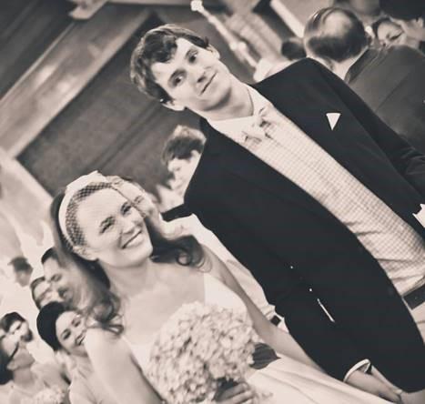 Ashlee & Allen on their wedding day