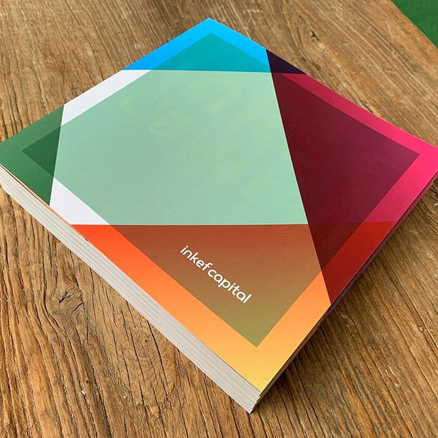 Fresh from the printer. #graphicdesign #newwork #dutchdesign #prikmedia #brochure #optimism #supergluer #colorfull #thehaguedesign