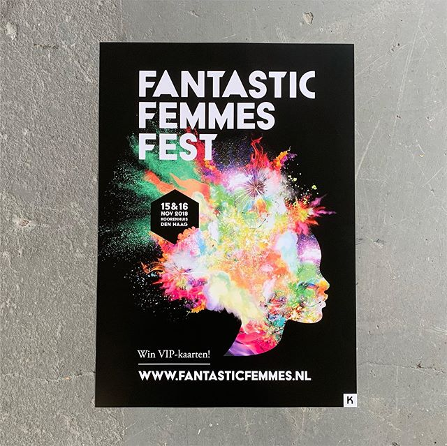 Fresh work. #prikmedia📍 #prikmedia #graphicdesign #colorexplosion #fantasticfemmes #festival #artwork #posterdesign #dutchdesign #koorenhuis #denhaag #powerwoman #thehaguedesign