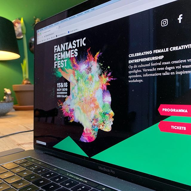 We've just realeased the @fantasticfemmesfest website (www.fantasticfemmes.nl). #fantasticfemmesfest is a 2 day cultural festival that put creative women in the spotlights. #festival #creativeindustry #graphicdesign #webdesign #powerwomen #thehague #denhaag #denhaagcity #thehaguefestivals