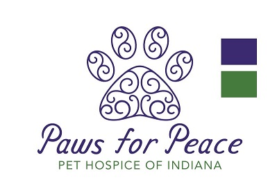 The new logo for our hospice branch of Pleasant Paws!