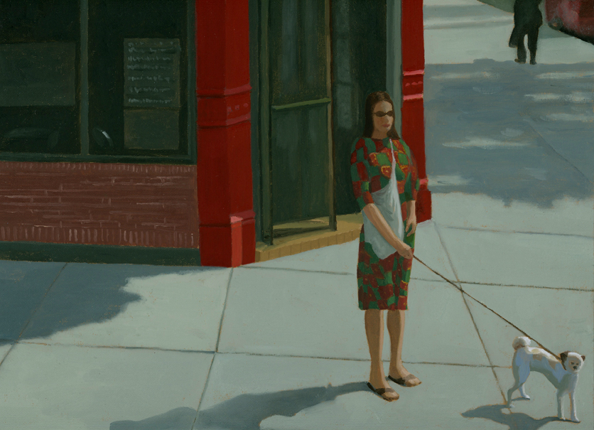 Woman and Dog on the Corner.jpg