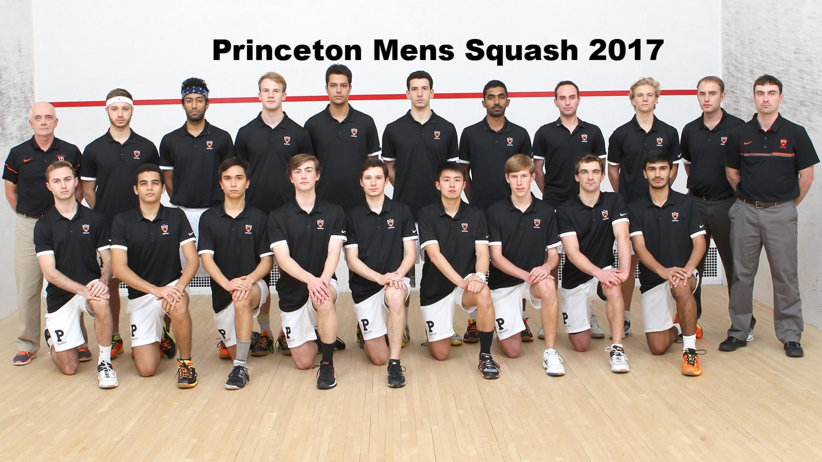 The 2017 Princeton University Mens squash Team @ The 2017 National Championchips at Harvard