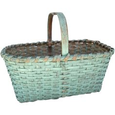 Green Painted Basket