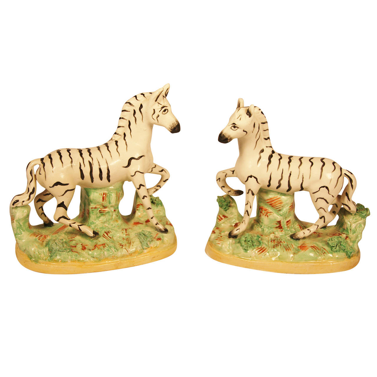 The 19th Century Zebra Staffordshire (I want these)