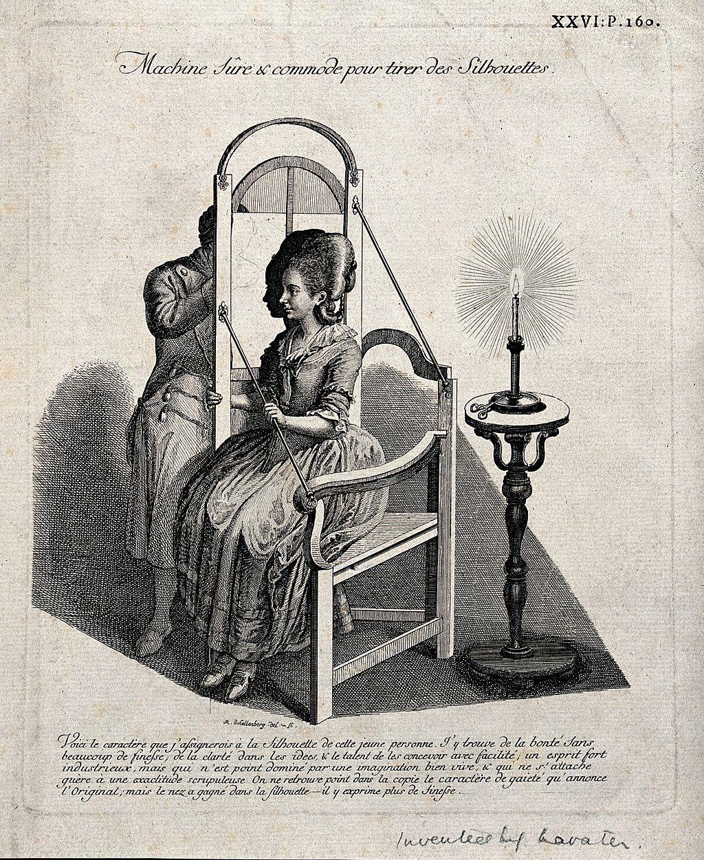 Drawing a Silhouette  by  Johann Rudolph Schellenberg  (1740–1806).