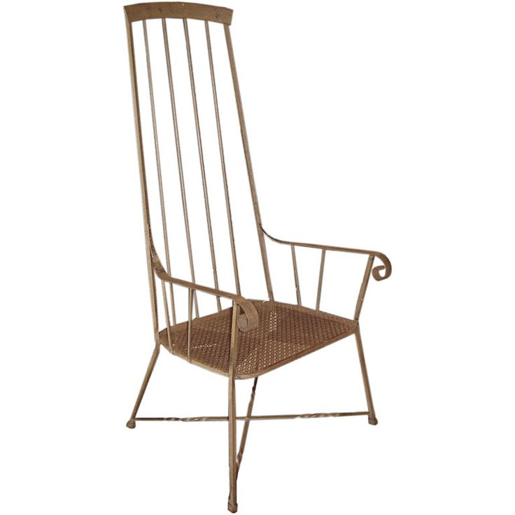 High-Backed Wrought Iron