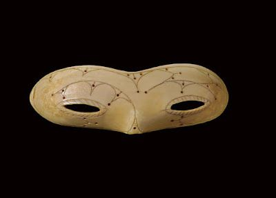 Decorated Ivory Snow Goggles by the Punuk Eskimos of Alaska (1200-1600)