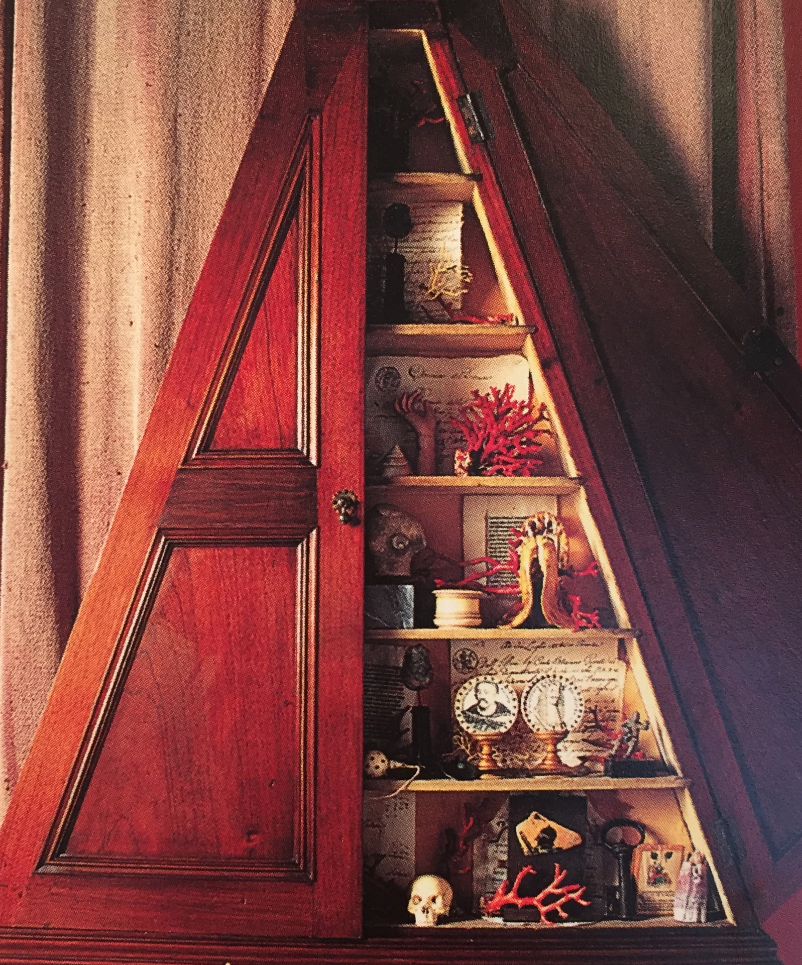 18th-Century Mahogany  'Cabinet of Curiosity'.  Collecting  & Display,    Alistair McAlpine