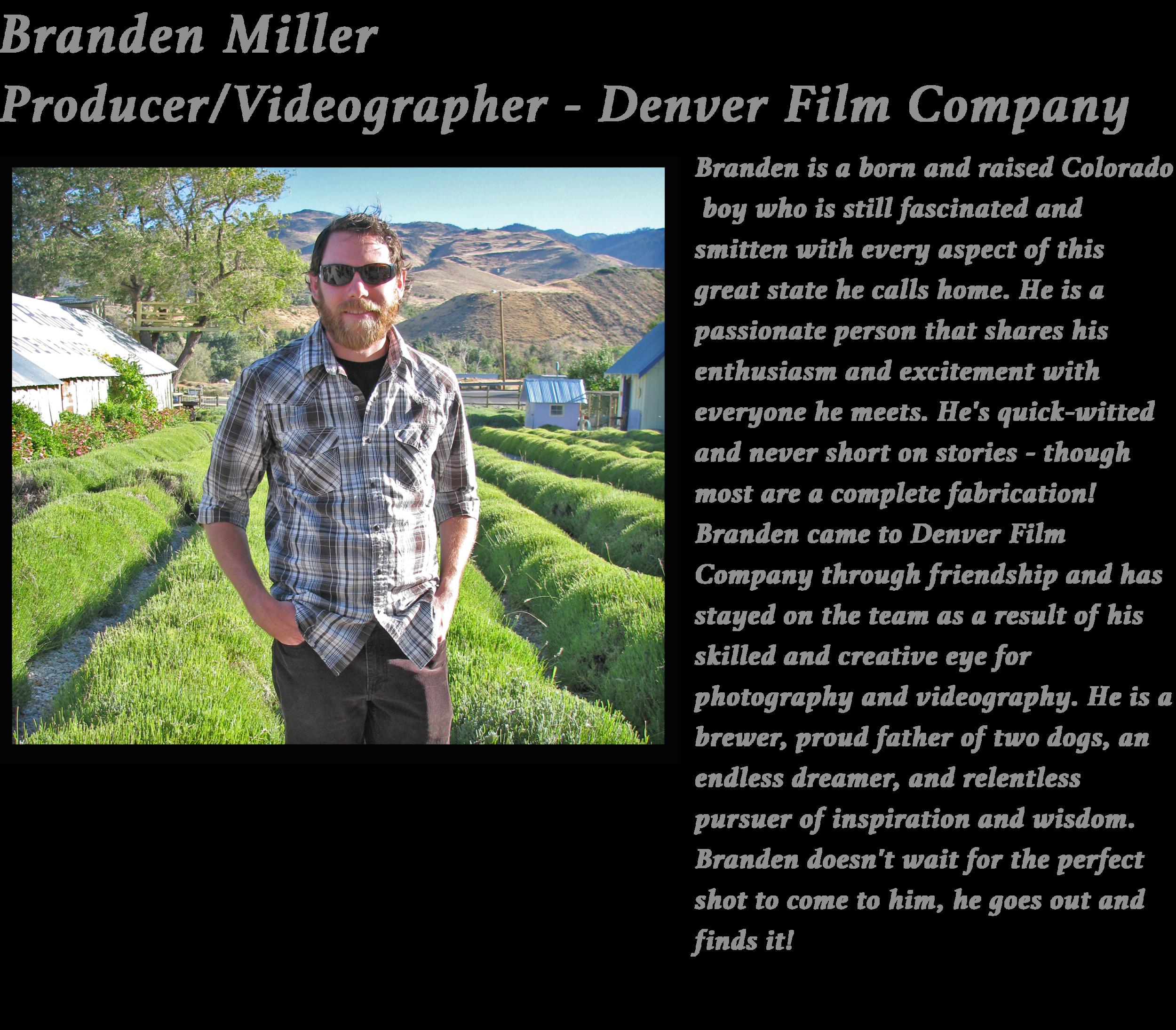 Branden Colorado video production music video