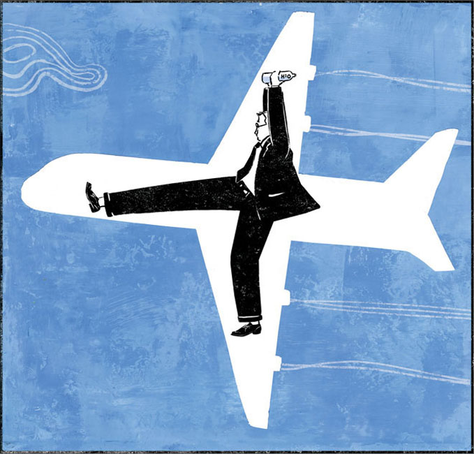 Time Magazine, Tips for a better flight  (stretch and drink water!)