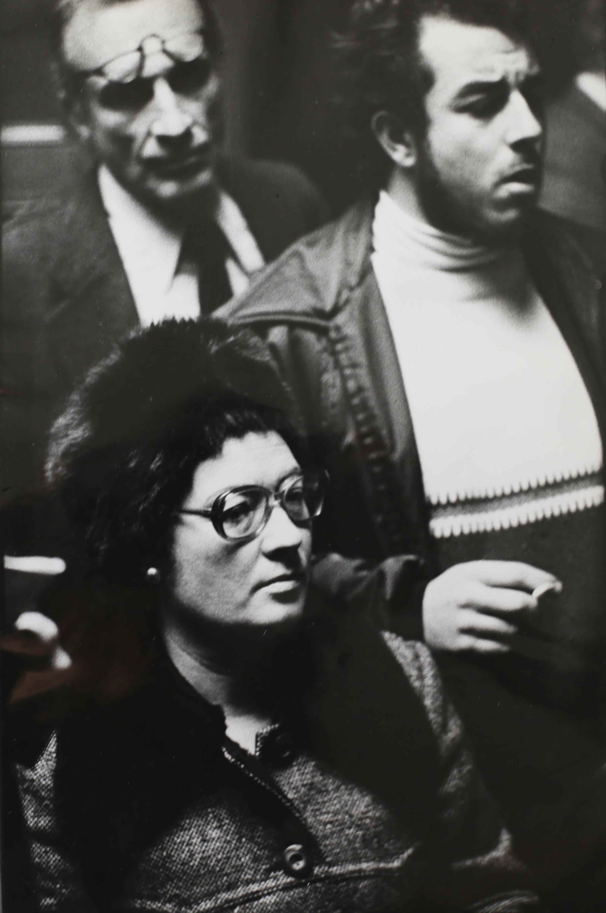 Parenti dei detenuti politici,conferenza stampa a Madrid nei giorni della morte di Franco. Madrid, 1975.