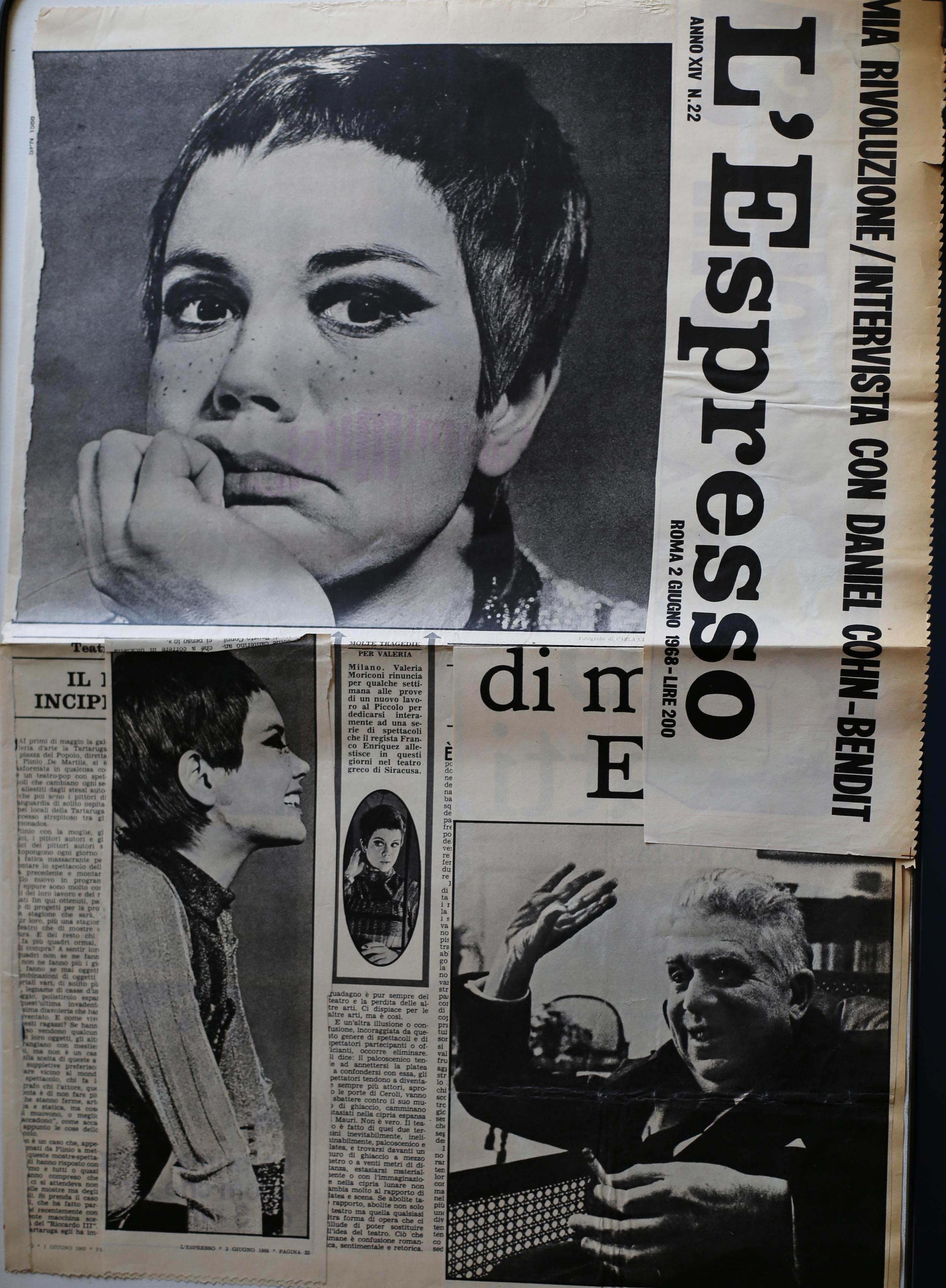 Valeria Moriconi e Eugenio Montale. Foto di Carla Cerati, pubblicate su L'Espresso (2 giugno, 1968).