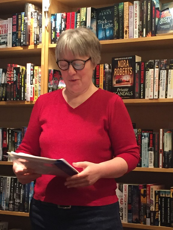Rebecca Lynn Foreman reads at the English Bookshop in Stockholm