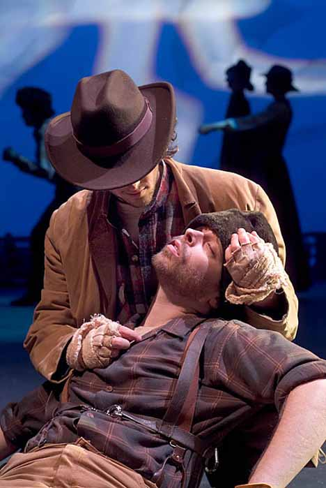 Scott as John Thornton in UVA Drama's the Call of the Wild  Photo credit - University of Virginia Drama Department