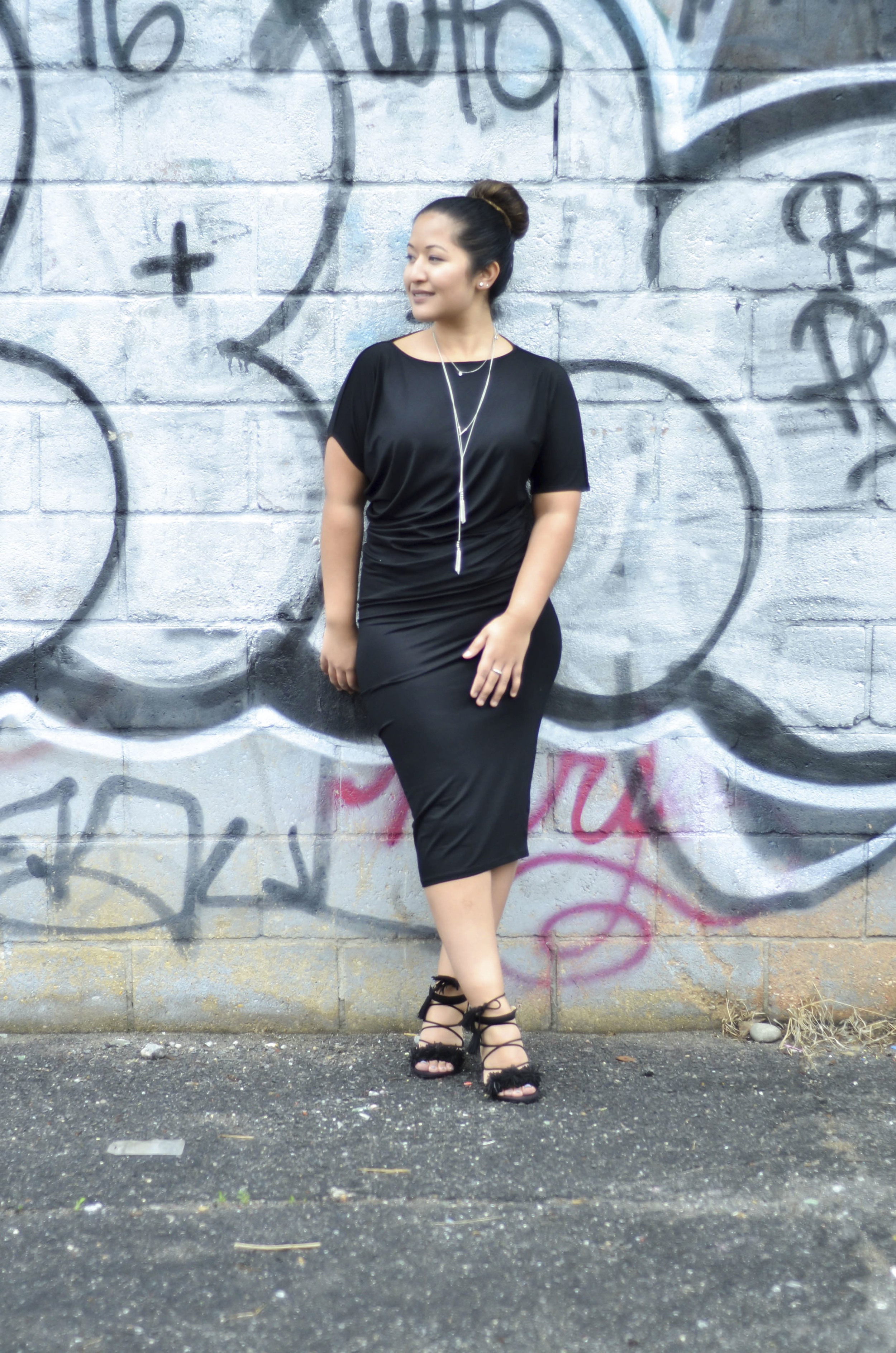 Black Draped Jersey Dress3.jpg