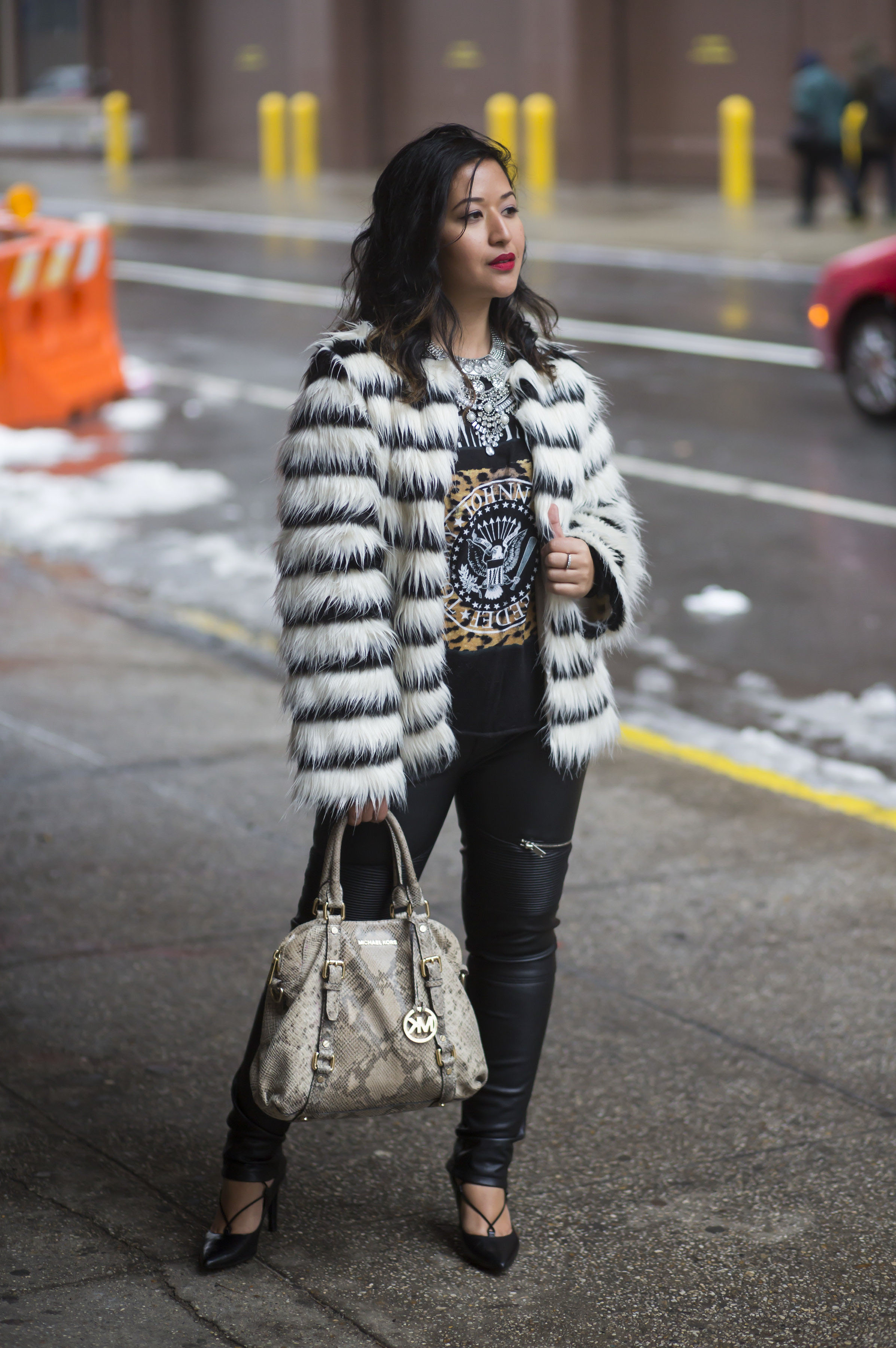 Black and White Make Me Chic jacket x Krity S