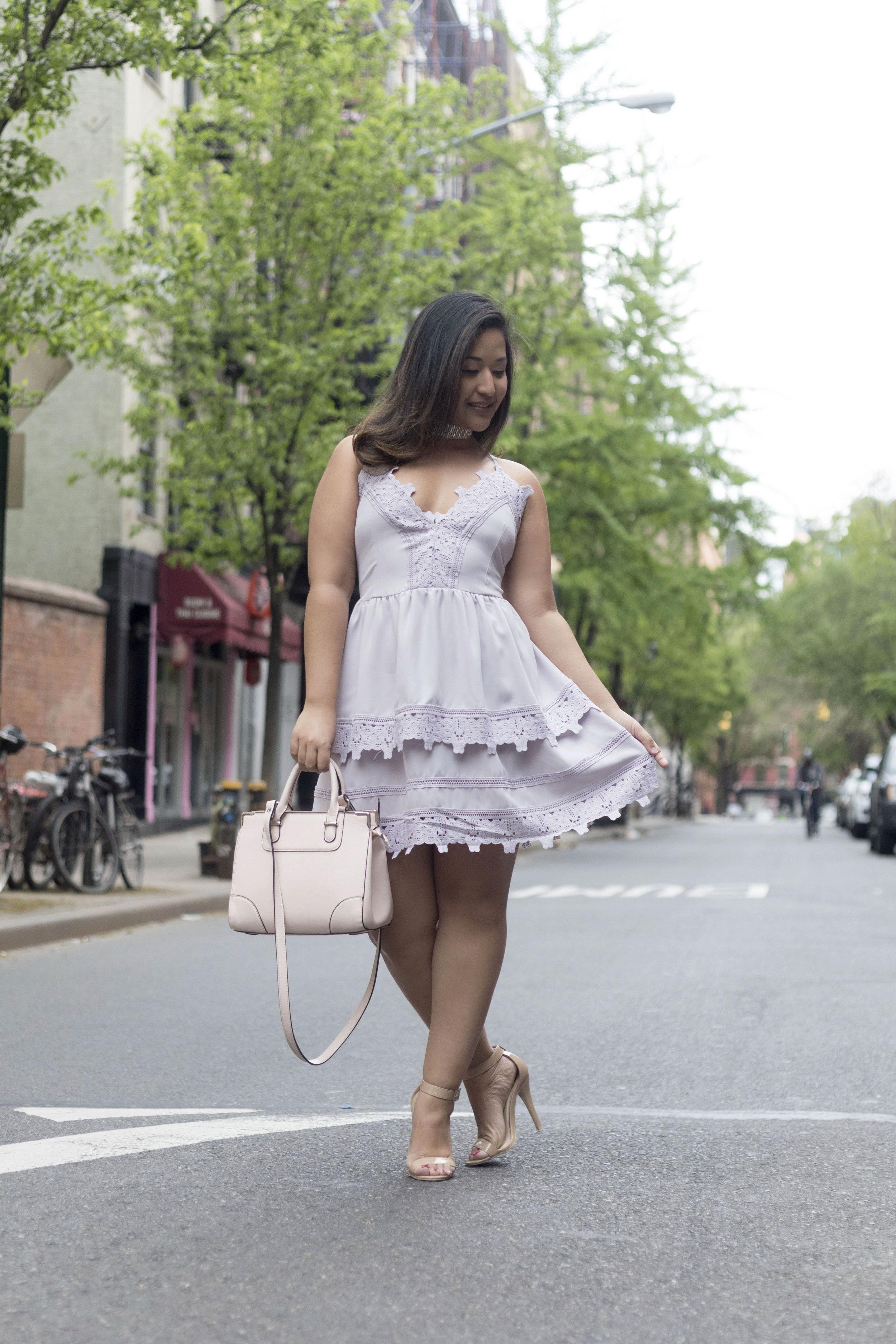 Krity S x Tobi x Lavender Lace Dress