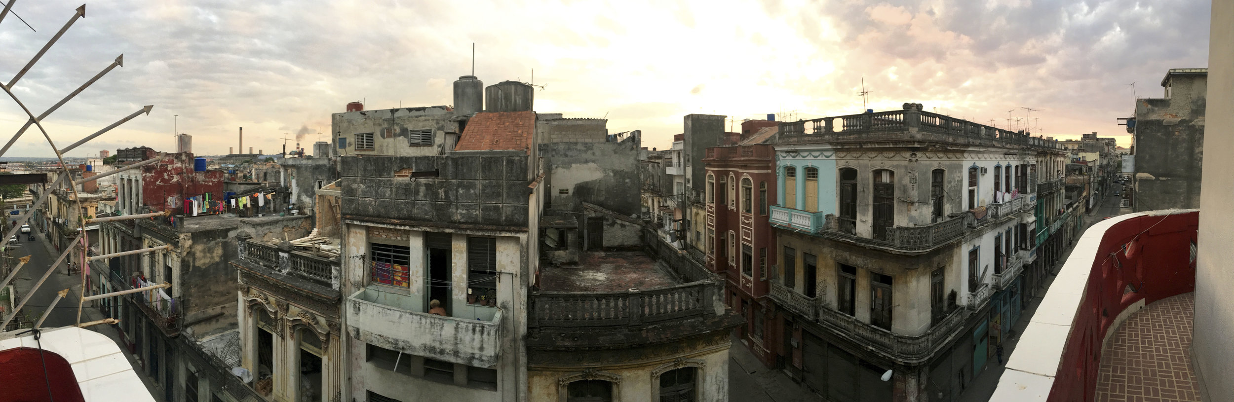 Cuba- Havana- Balcony view from Air BnB