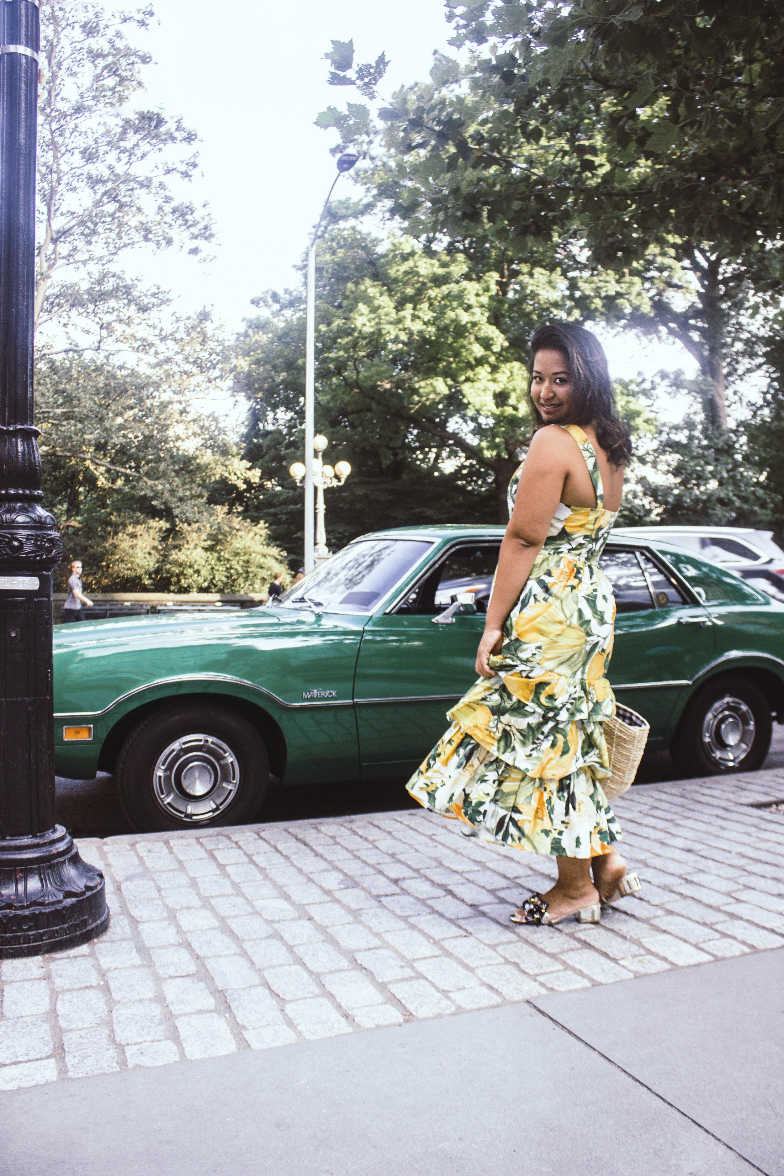 Lemon Print Dress H&M Krity S