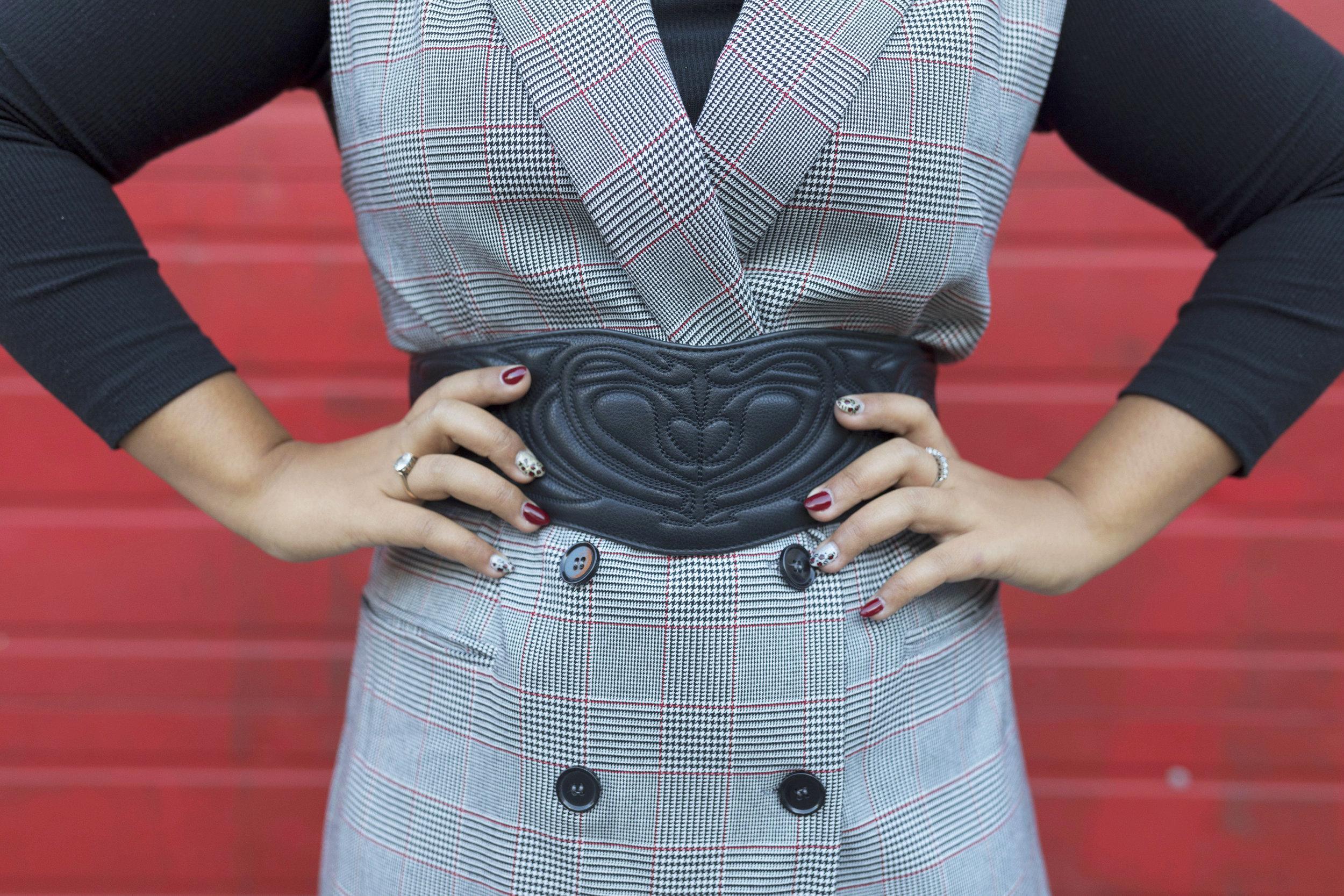 Krity S x Checked Tailored Dress worn Two Ways6.jpg