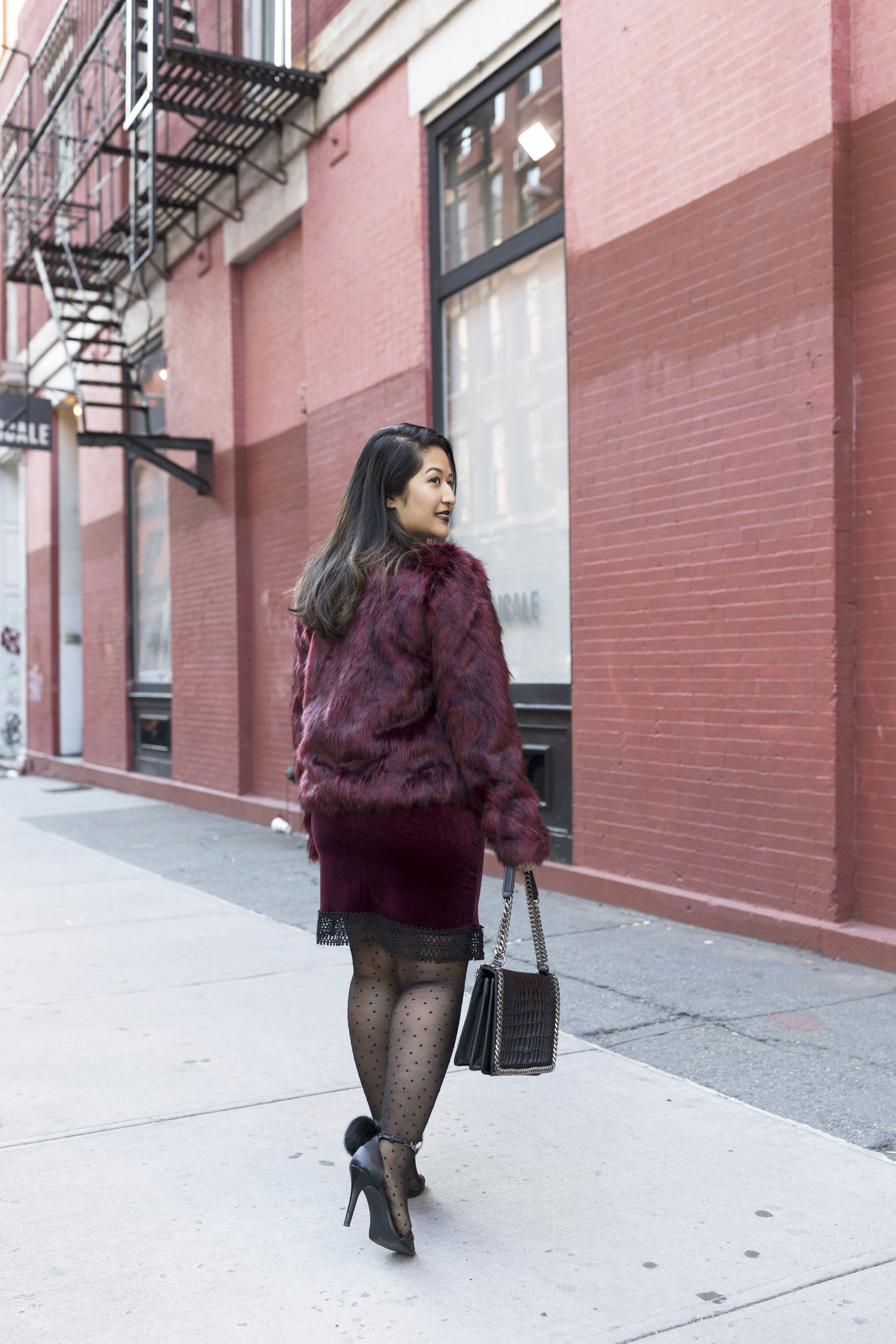 Krity S x Holiday Outfit x Century 21 Burgundy Velvet Dress and Faux Fur3.jpg