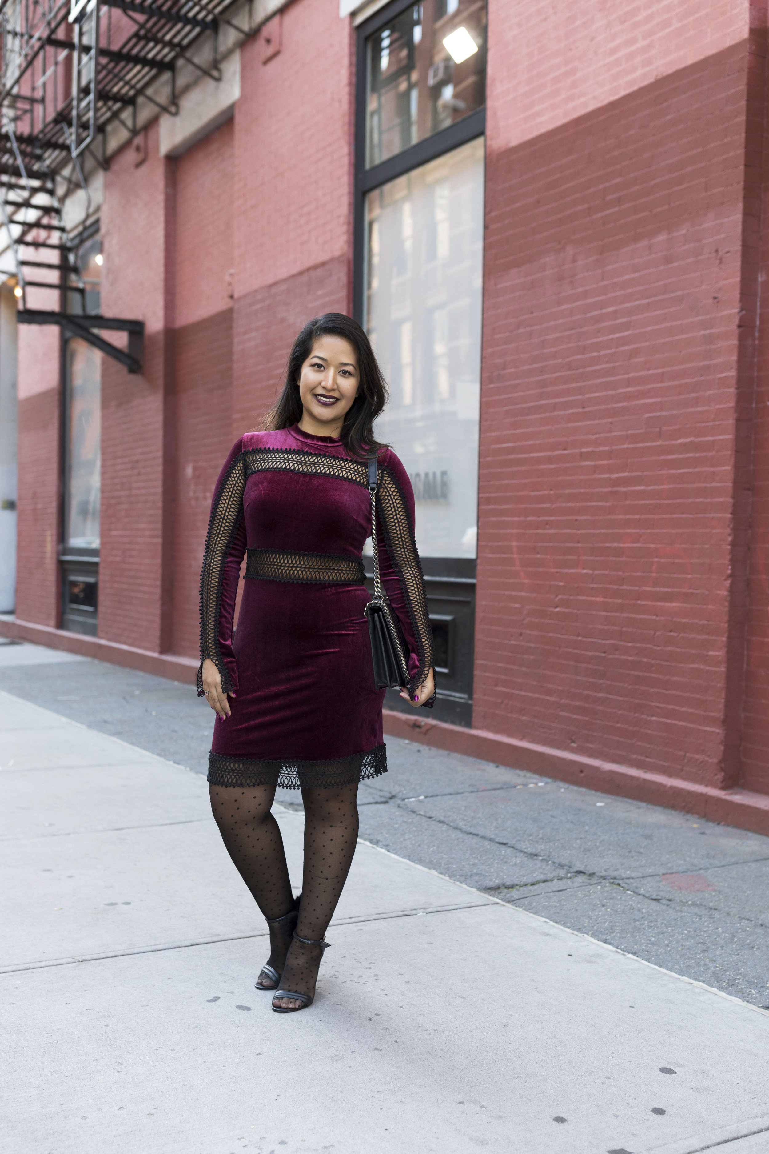 Krity S x Holiday Outfit x Century 21 Burgundy Velvet Dress and Faux Fur8.jpg