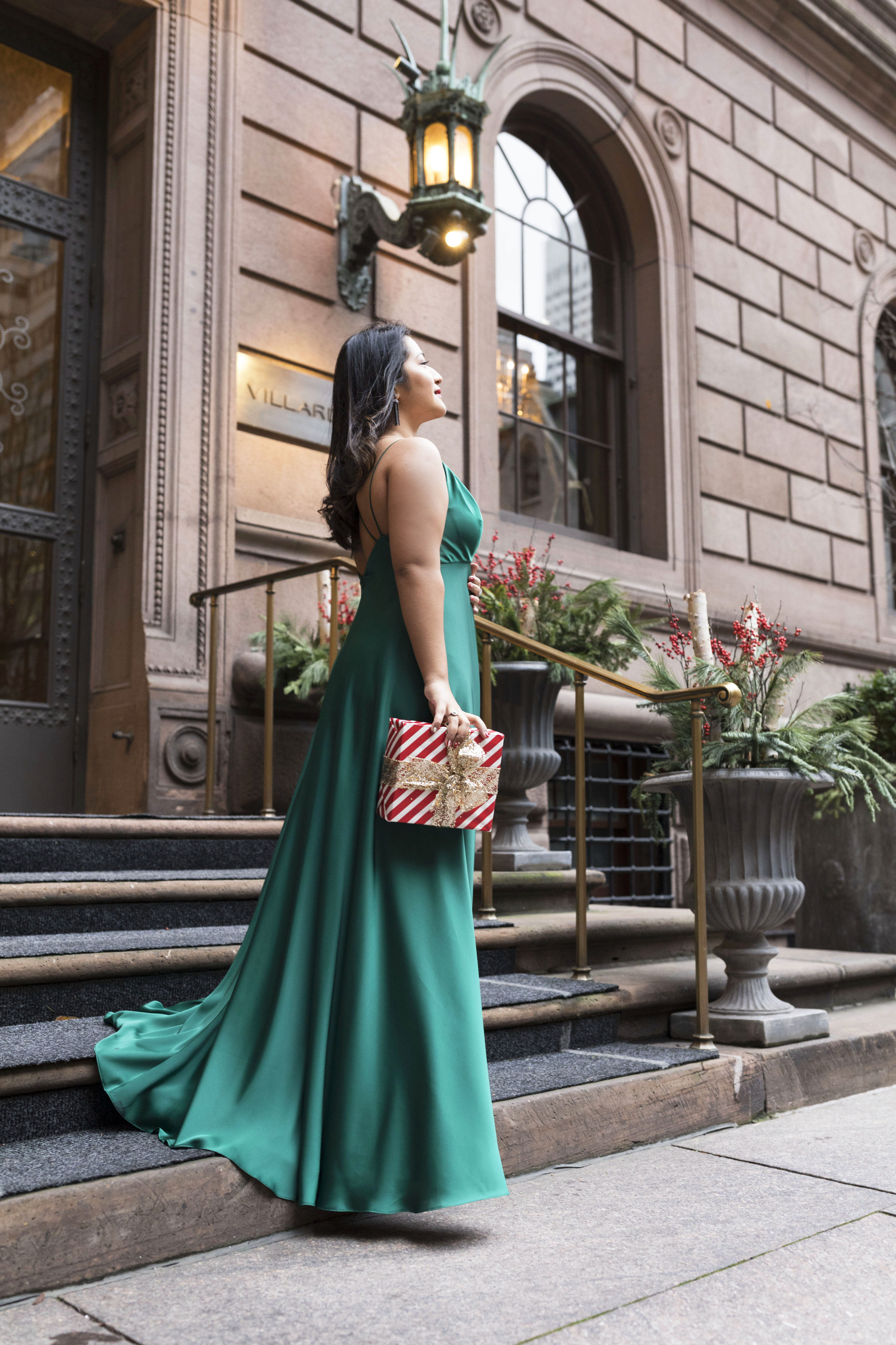 Krity S x Holiday Outfit x Forest Silk Aidan Mattox Gown 7.jpg