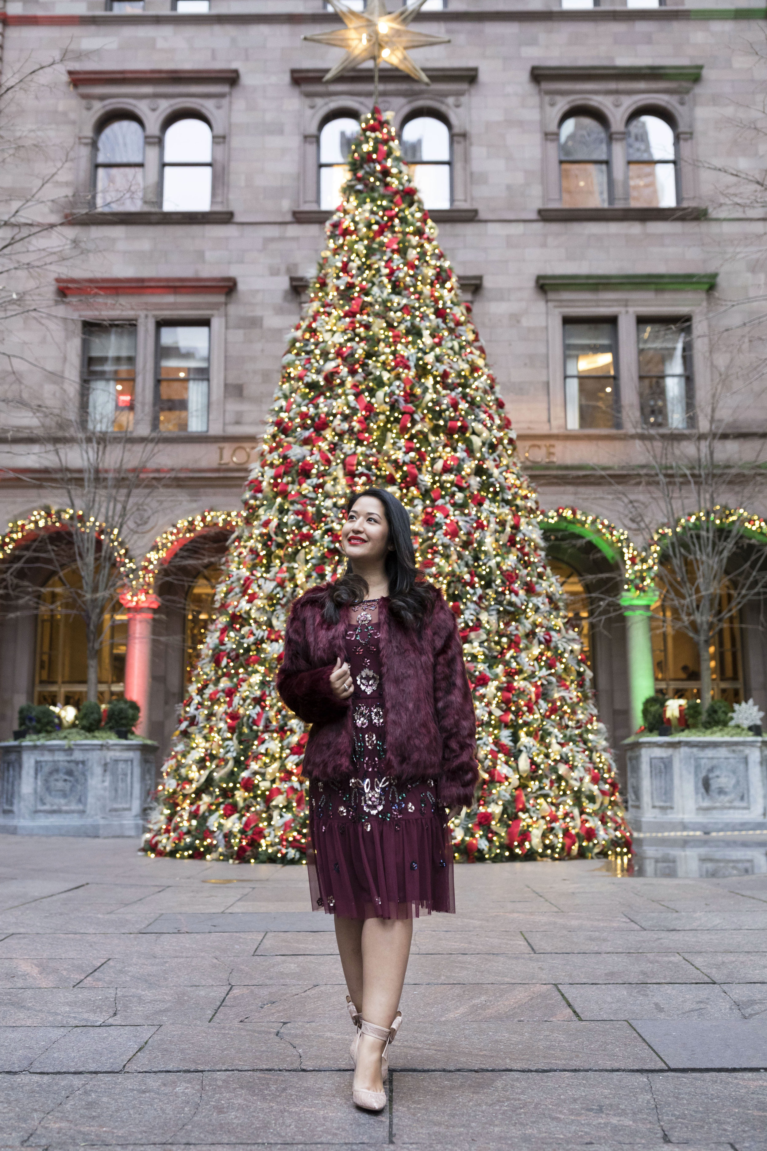 Krity S x Holiday Outfit x Aidan Beaded Burgundy Short Dress4.jpg