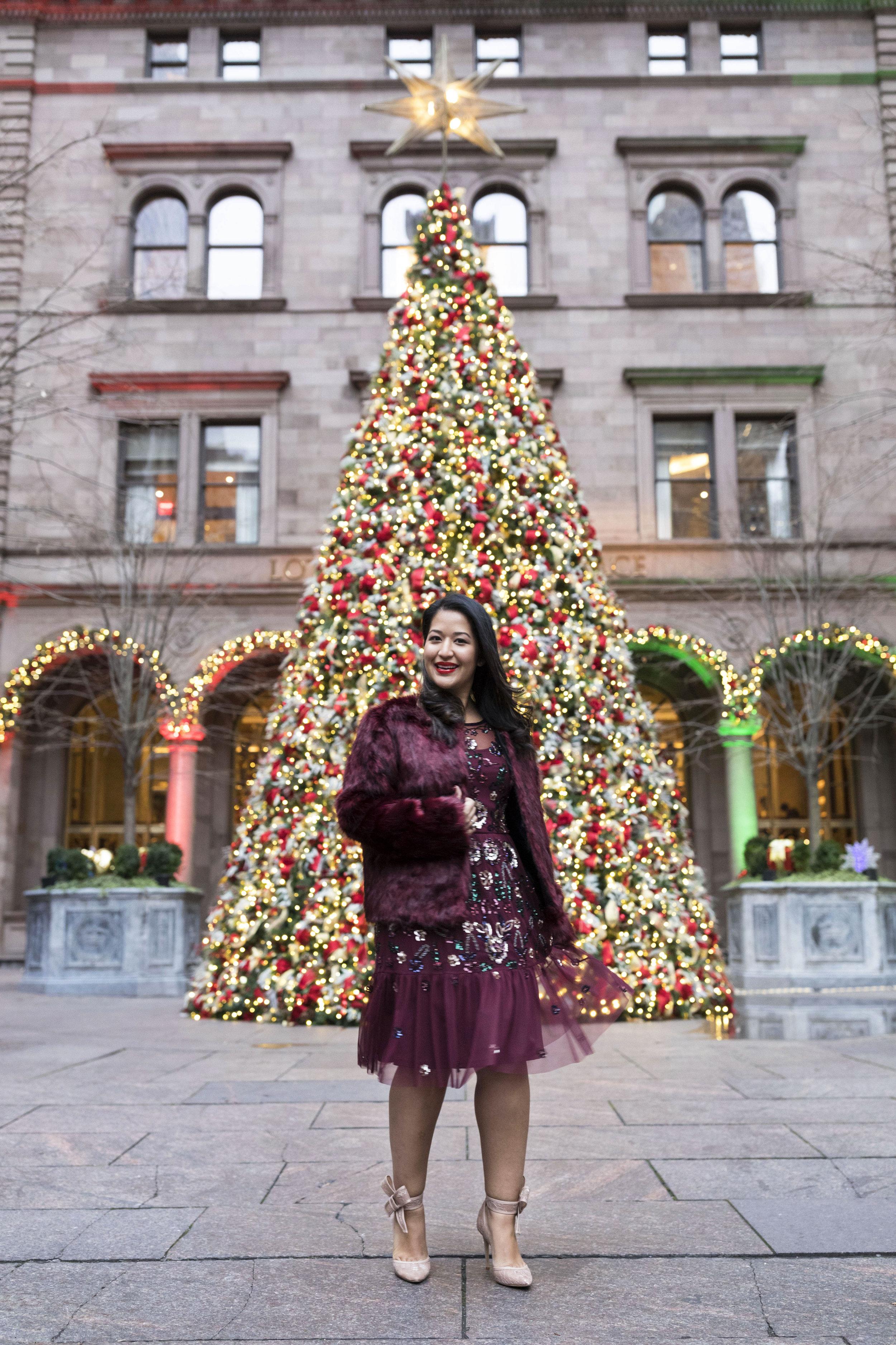 Krity S x Holiday Outfit x Aidan Beaded Burgundy Short Dress5.jpg