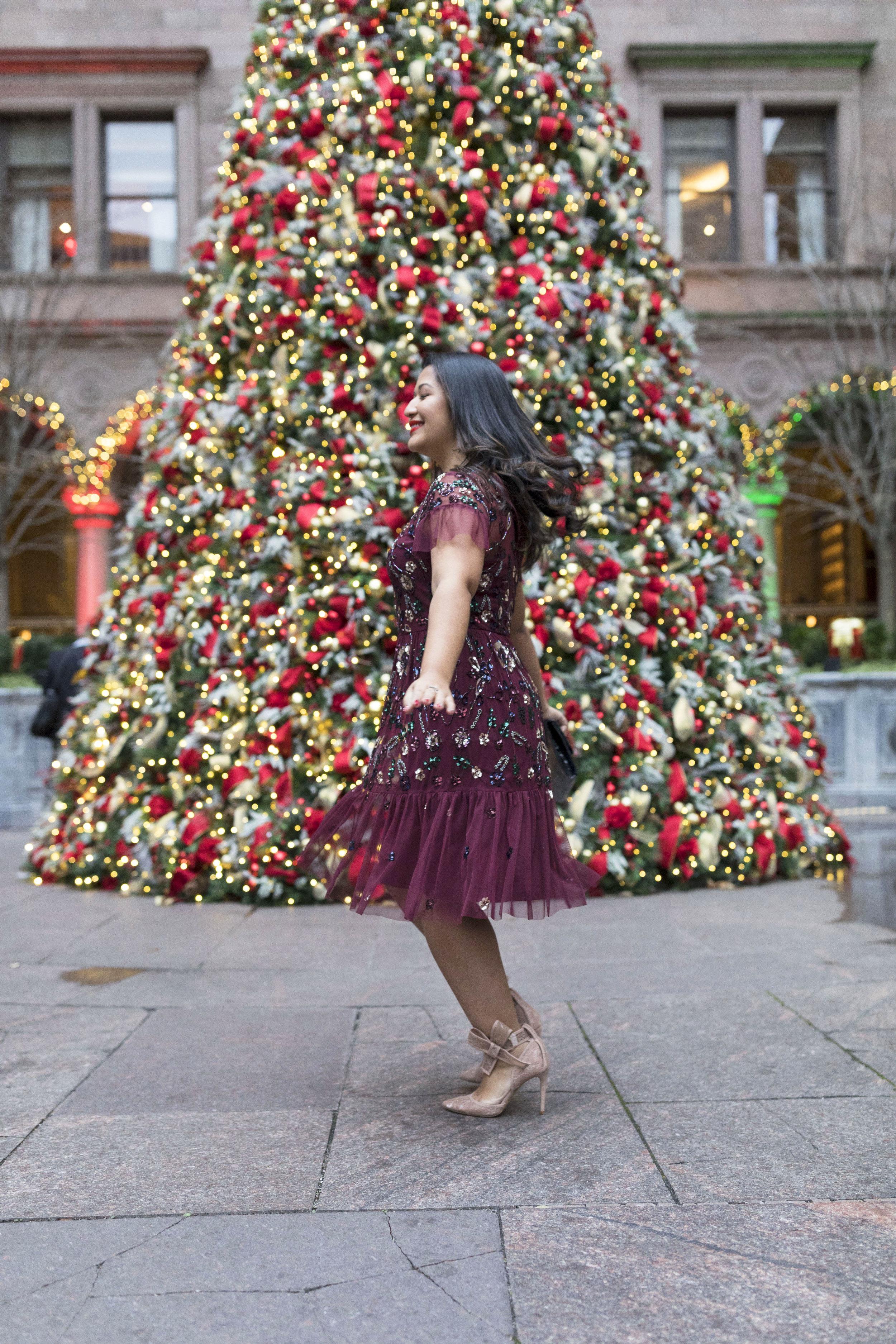 Krity S x Holiday Outfit x Aidan Beaded Burgundy Short Dress12.jpg