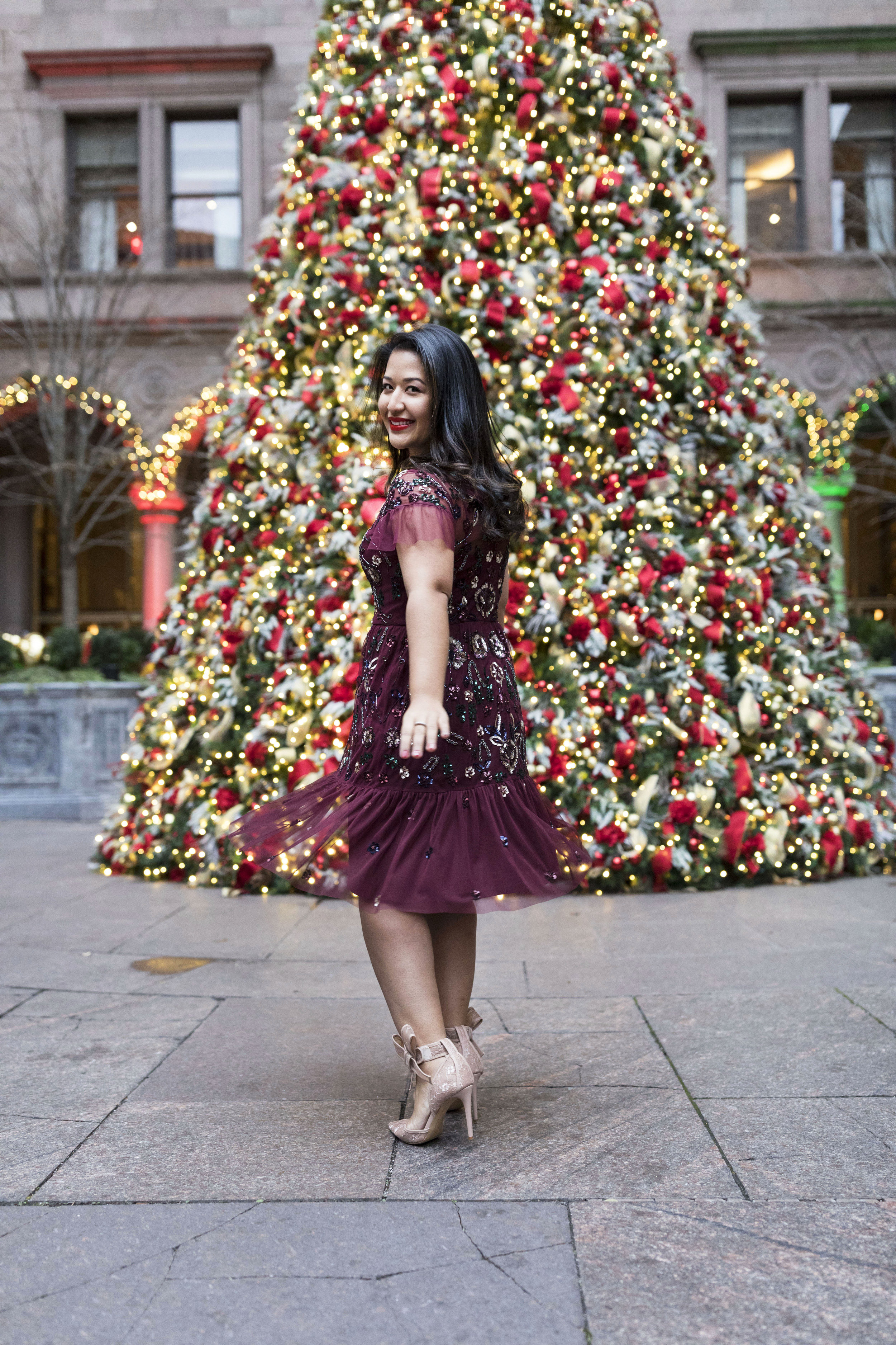 Krity S x Holiday Outfit x Aidan Beaded Burgundy Short Dress13.jpg