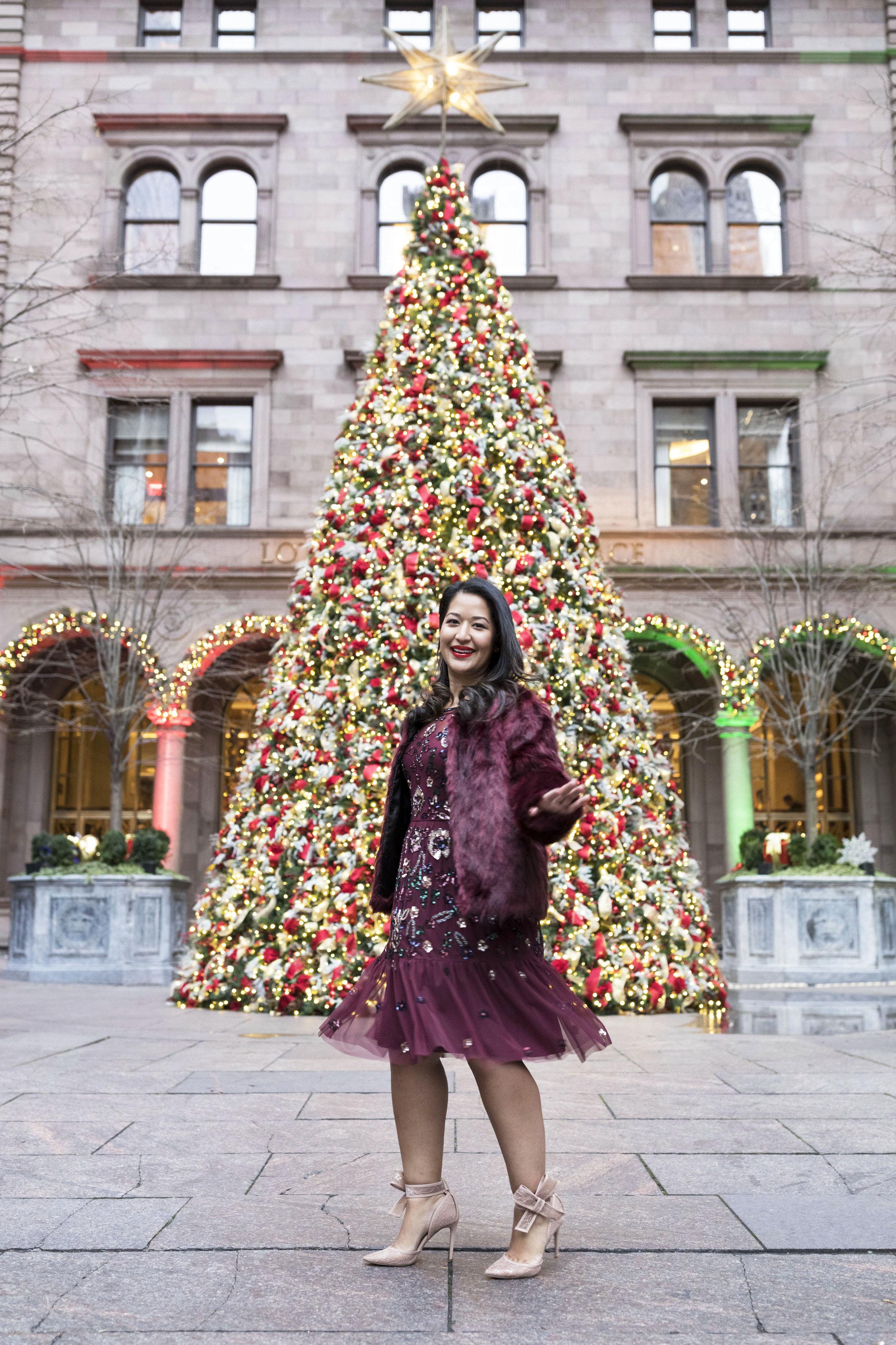 Krity S x Holiday Outfit x Aidan Beaded Burgundy Short Dress6.jpg