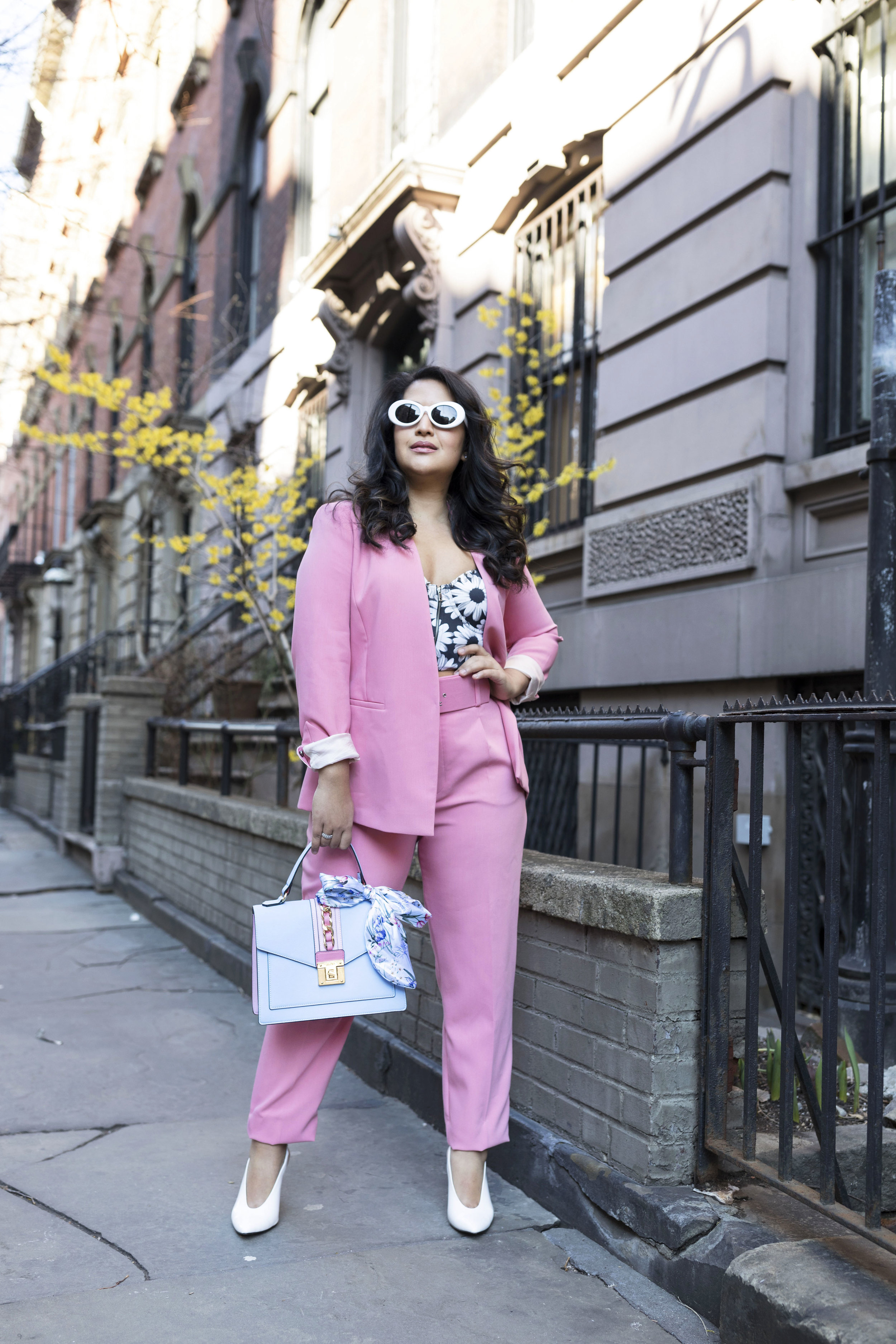 Pant Suit Spring Outfit Trend- Pink Pant Suit