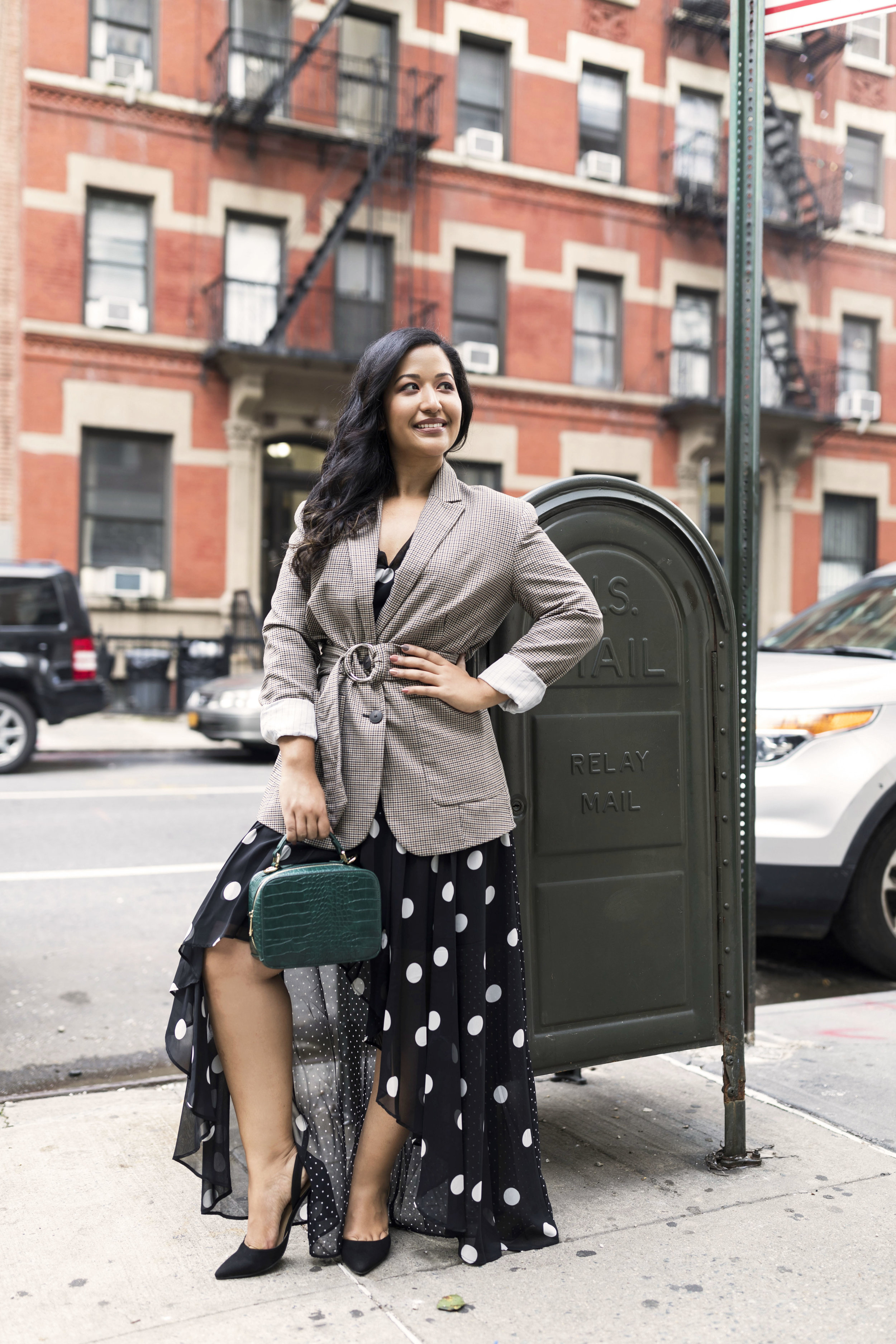 Fall Trends Plaid and Polka Dots