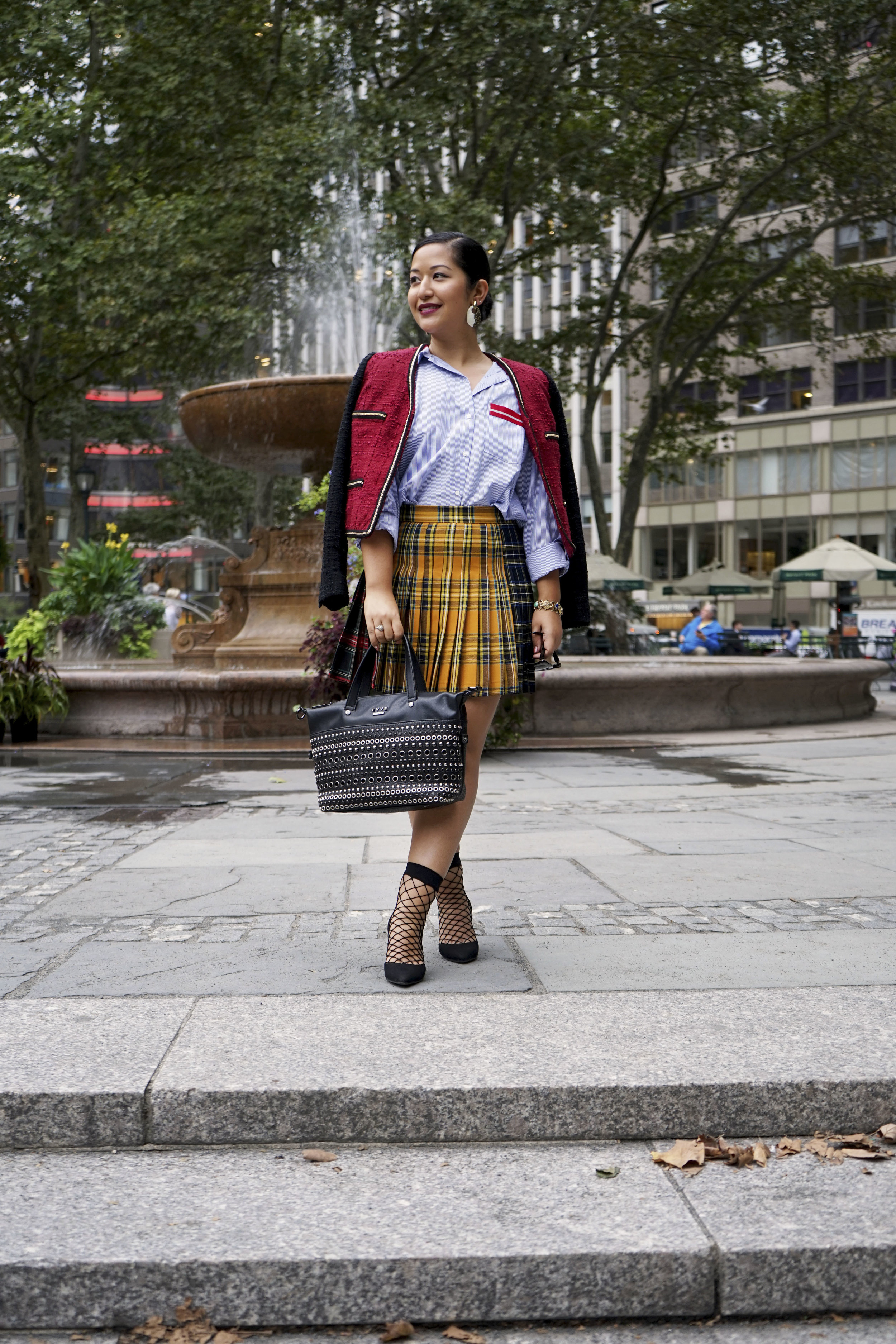 Fall Trends Preppy Plaid Look