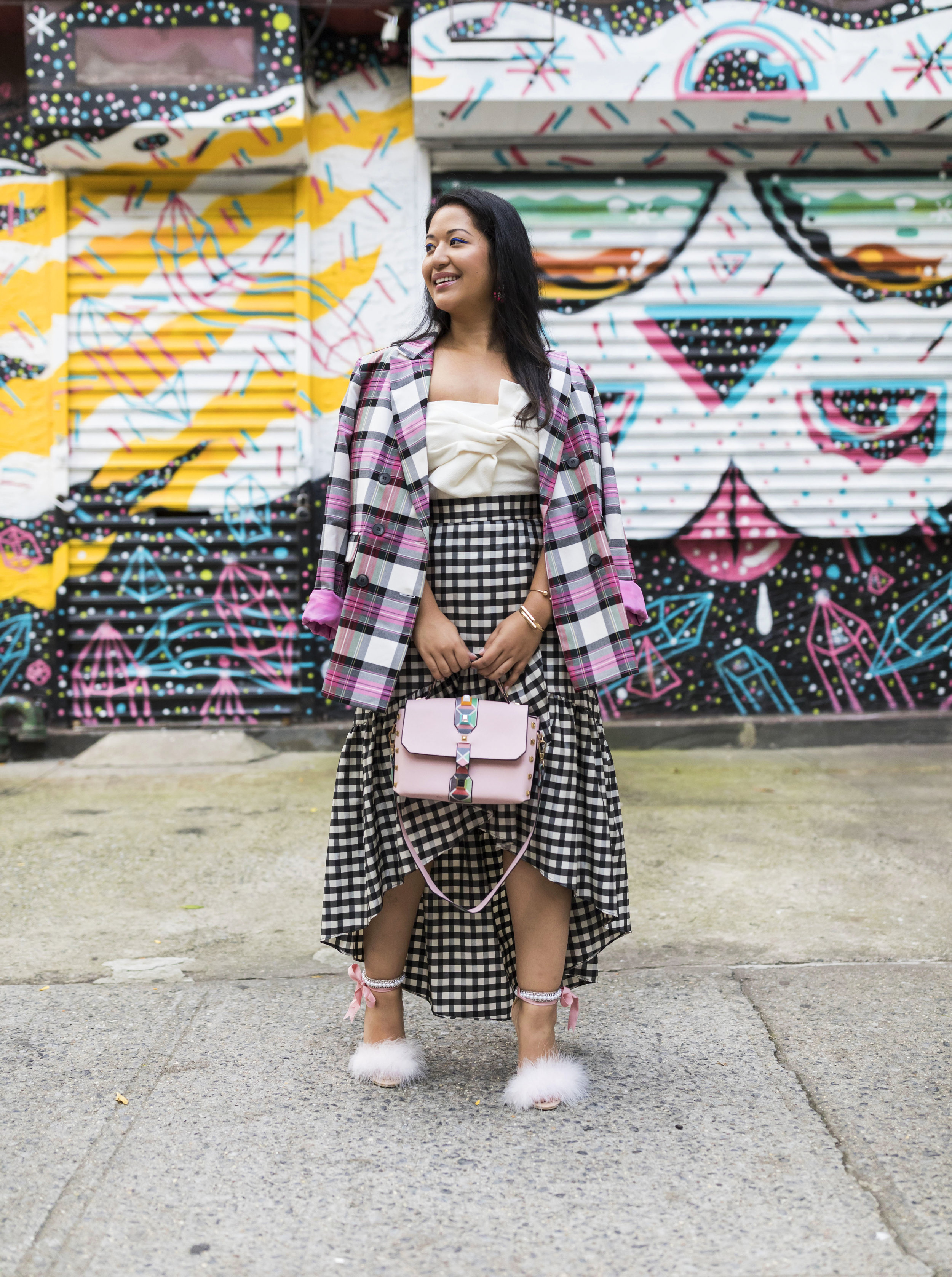 Mixing Plaid & Gingham - Best way to play with plaid prints are by mixing them together!