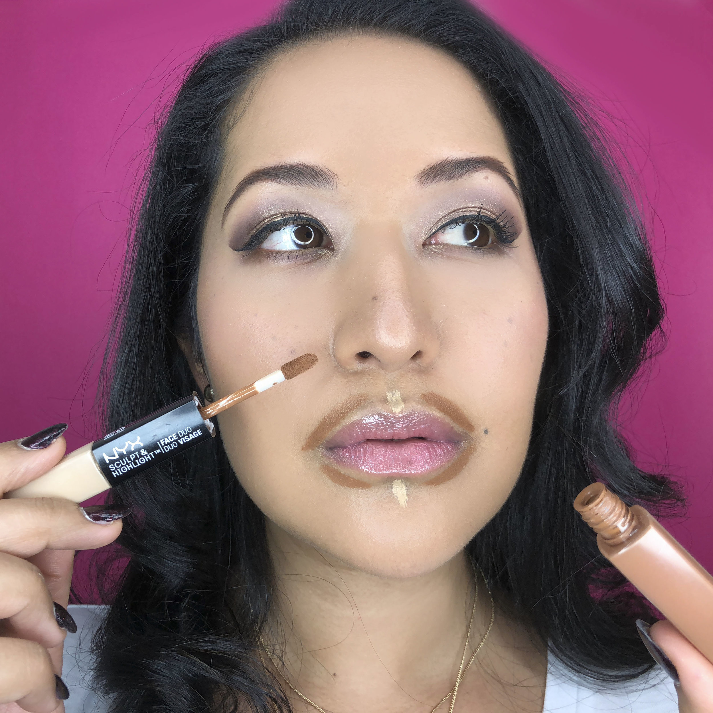 20. Lips - - Want to make your lips look bigger? There are a few tricks.First, contour. Apply darker contour cream around your upper and lower lip corners. Blend out with a brush.Second, slightly over line your lips with an pencil. Don't go overboard though.