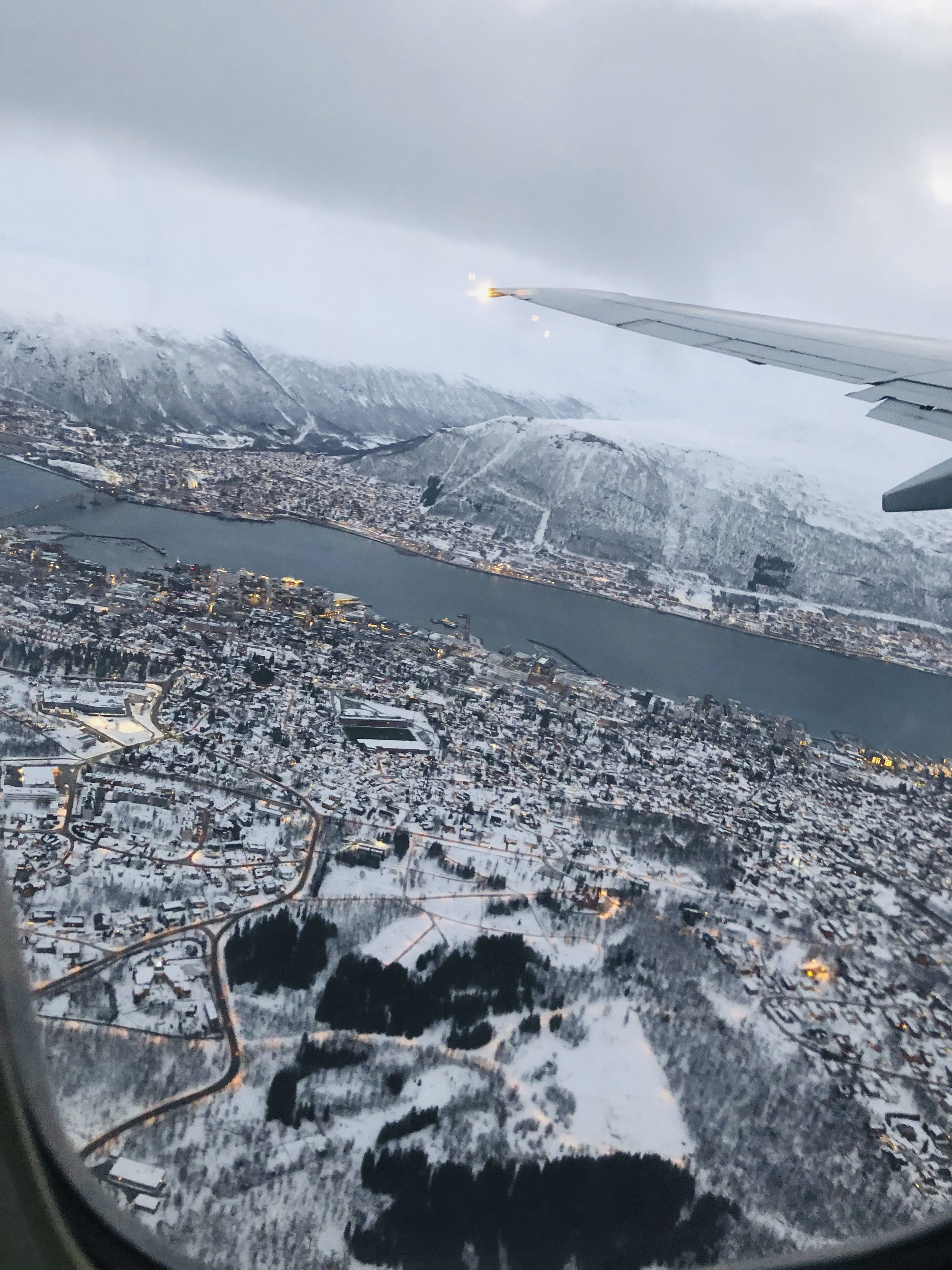 Arriving in Tromso -
