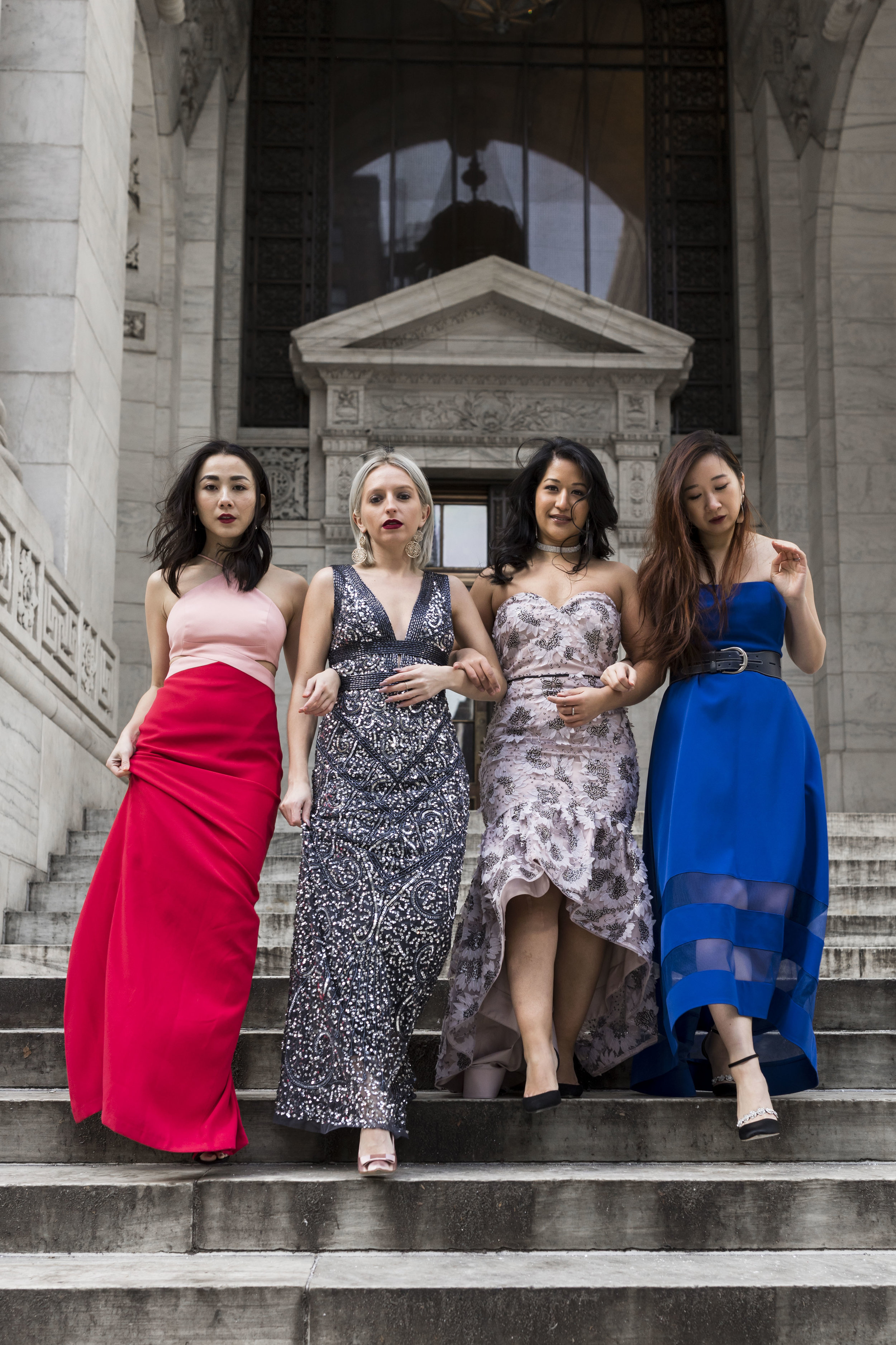 Galentine's Day Outfit Ideas NYPL Galentine Day Photoshoot