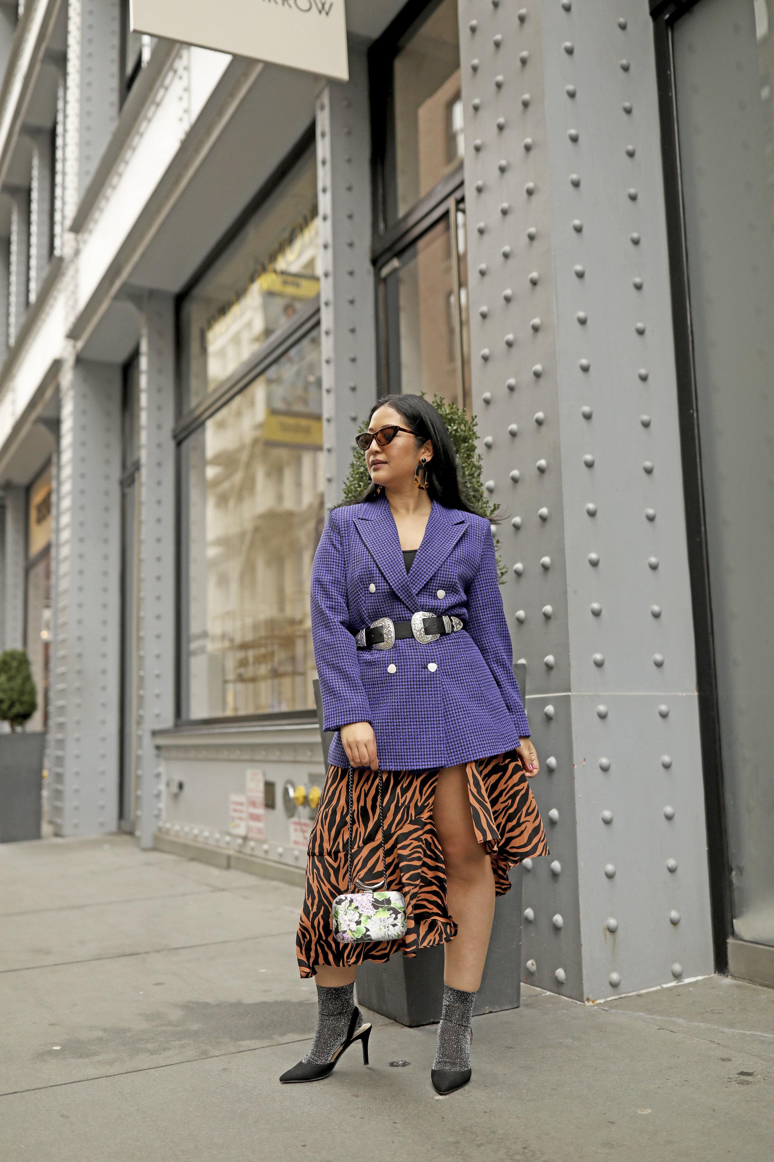 Purple Blazer Outfit Zebra Print Spring Trends_1.jpg