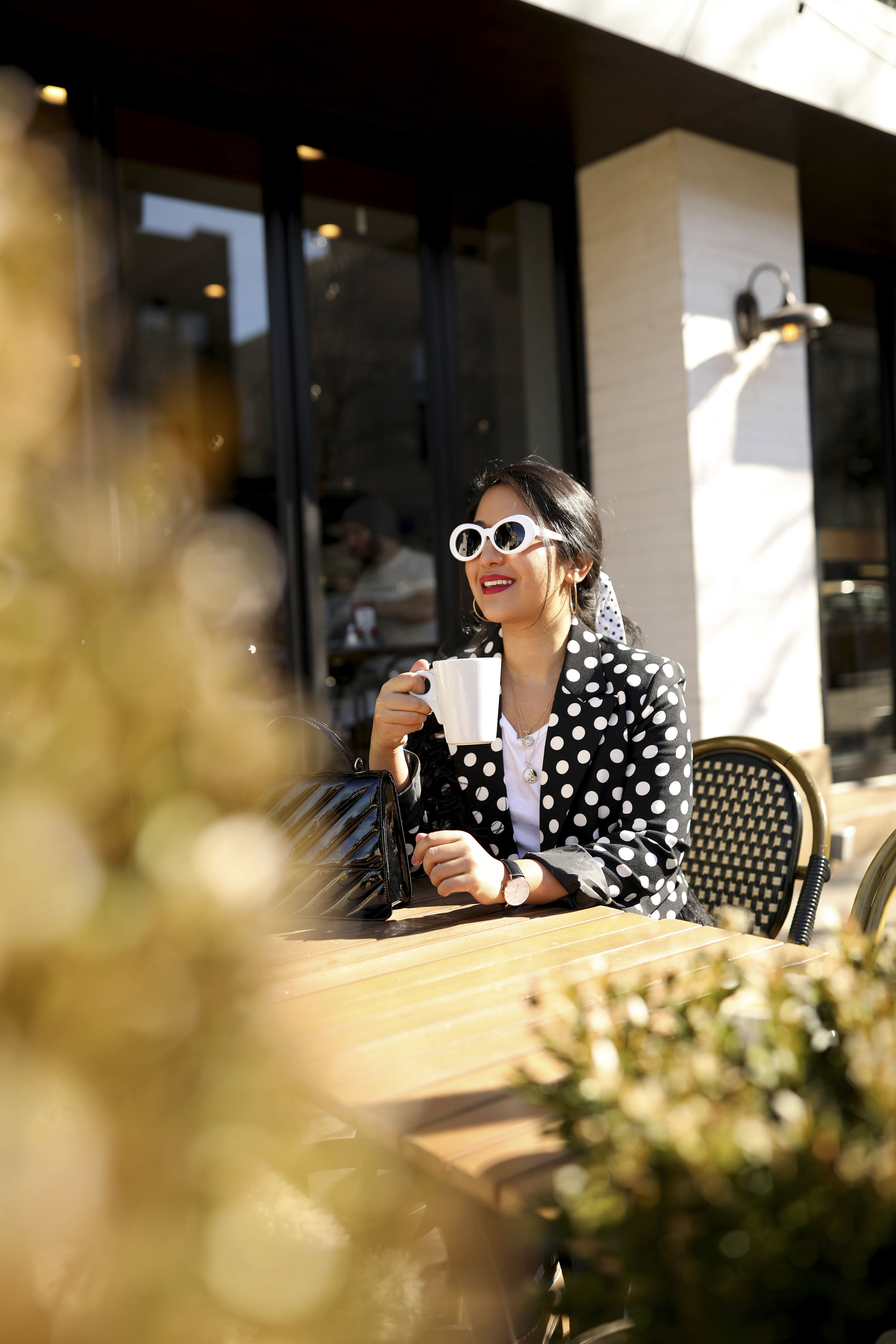Black and White Polka Dot Outfit Parisian Style_ 1.jpg