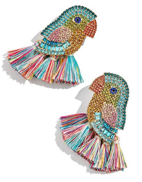 jeweled parrot earrings