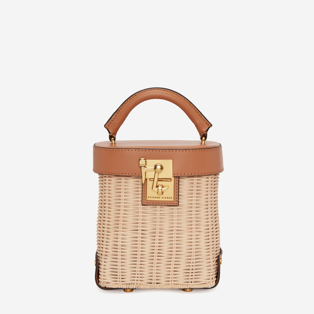 Etienne Aigner Bag - The perfect little straw bag with leather accents for any Summer Look