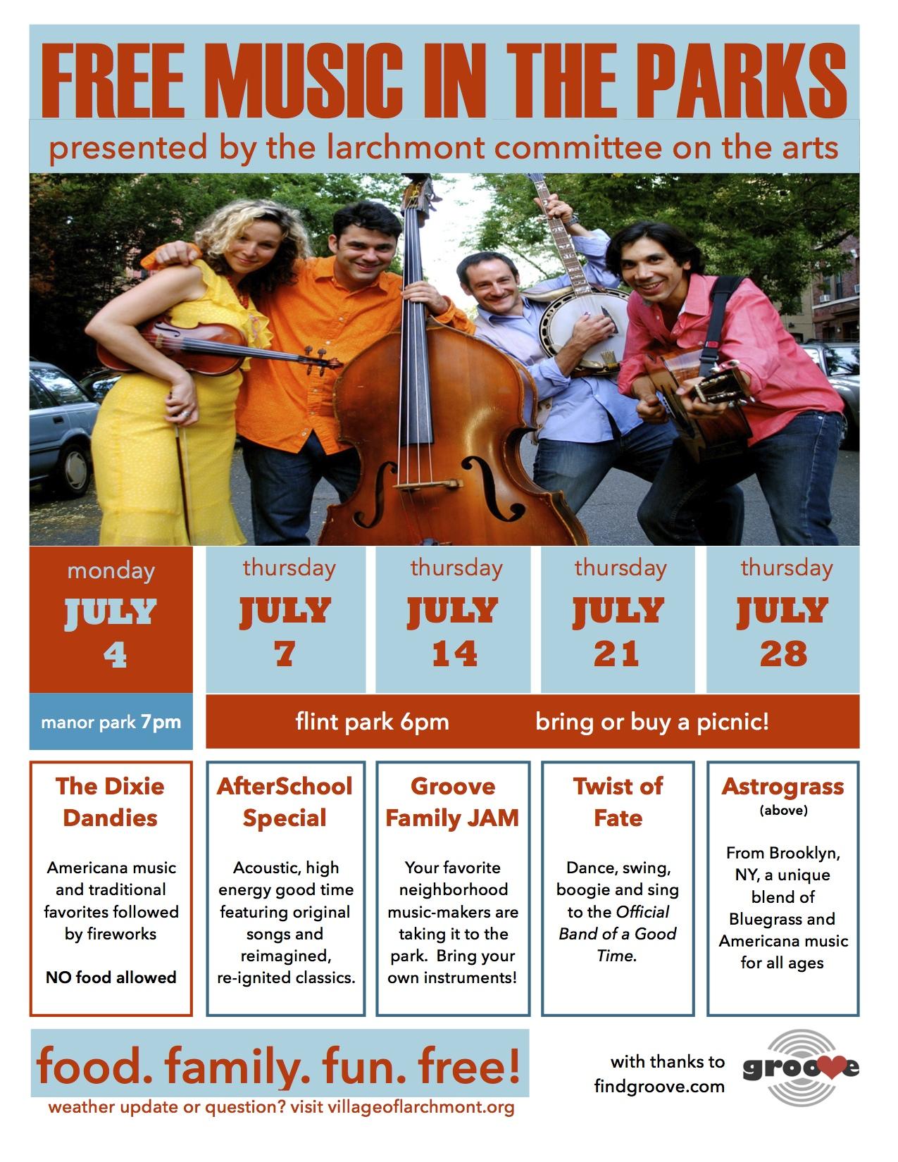 Summer 2016 Music at Larchmont's Flint Park
